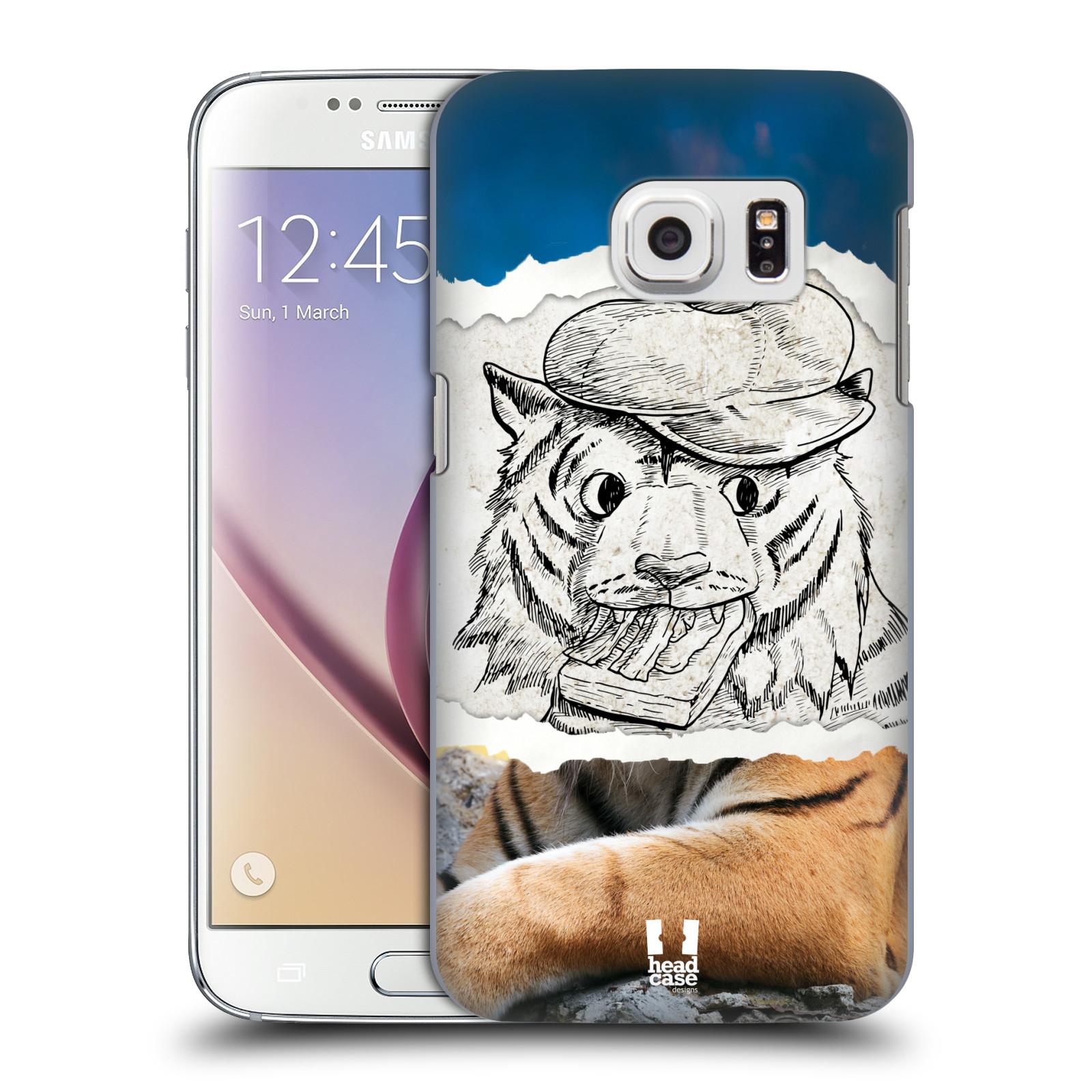 HEAD CASE plastový obal na mobil SAMSUNG GALAXY S7 vzor zvířata koláž tygr fešák