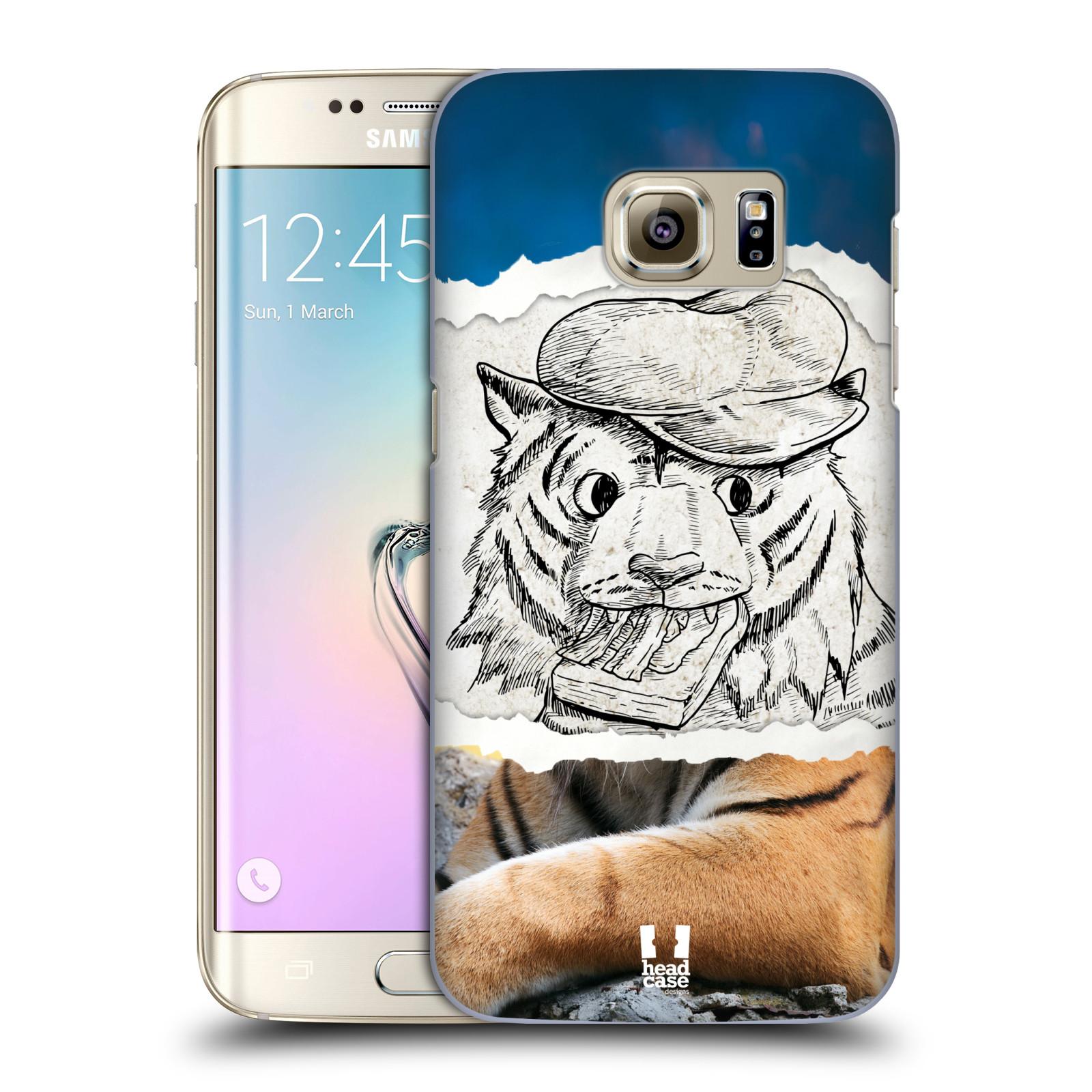 HEAD CASE plastový obal na mobil SAMSUNG GALAXY S7 EDGE vzor zvířata koláž tygr fešák