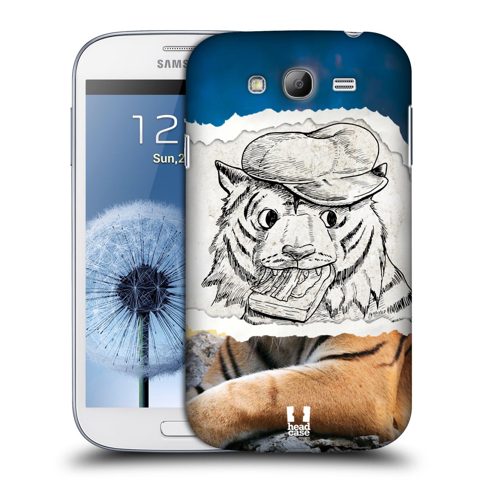 HEAD CASE plastový obal na mobil SAMSUNG GALAXY Grand i9080 vzor zvířata koláž tygr fešák