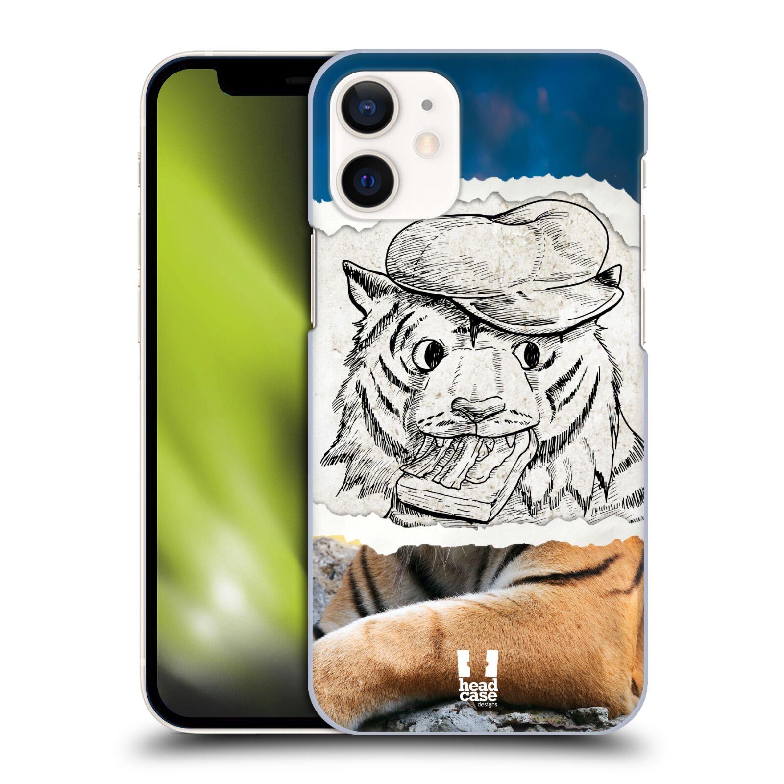 Plastový obal na mobil Apple Iphone 12 MINI vzor zvířata koláž tygr fešák