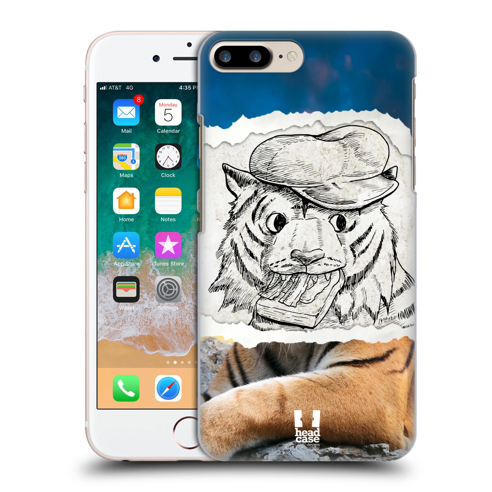 HEAD CASE plastový obal na mobil Apple Iphone 7 PLUS vzor zvířata koláž tygr fešák