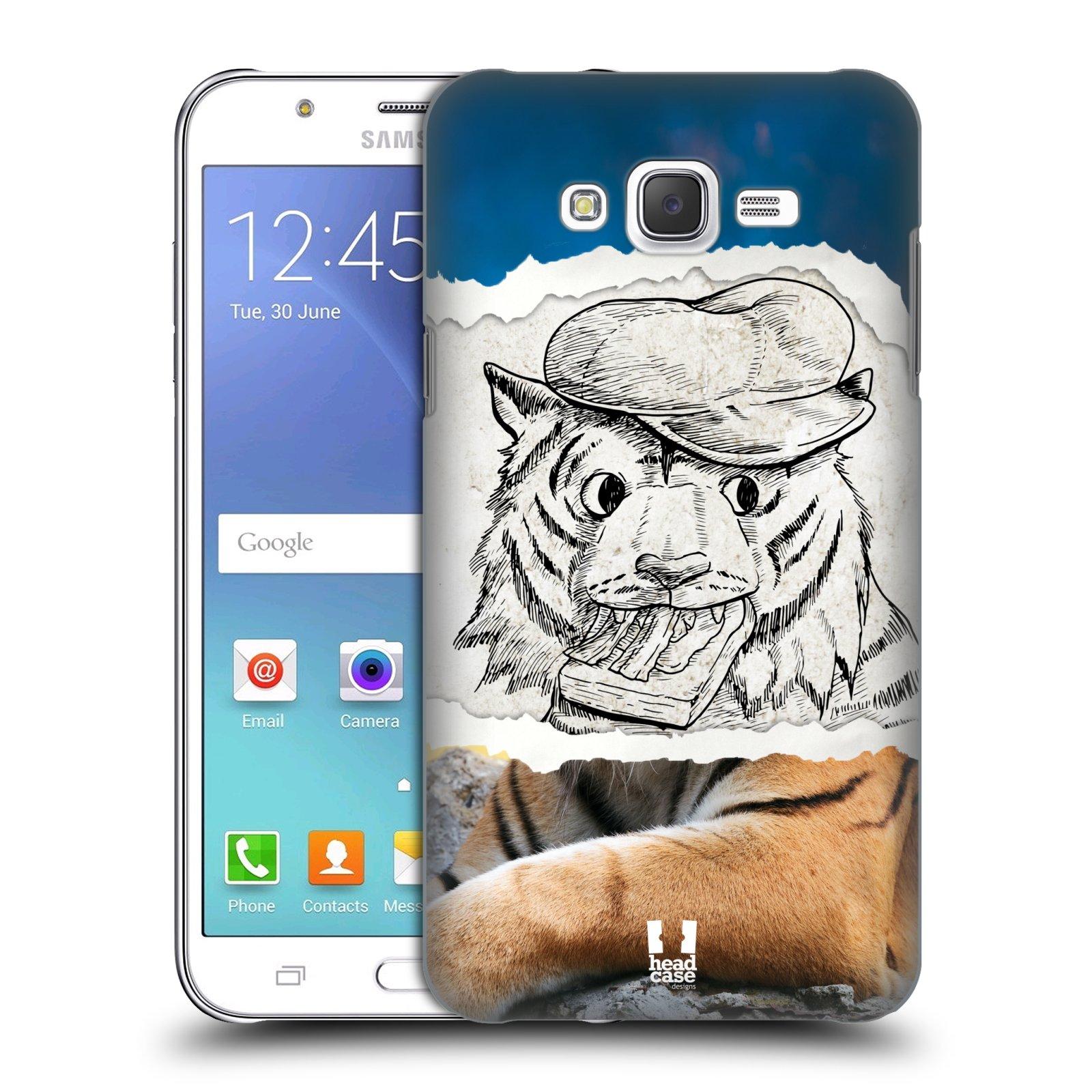 HEAD CASE plastový obal na mobil SAMSUNG Galaxy J7, J700 vzor zvířata koláž tygr fešák