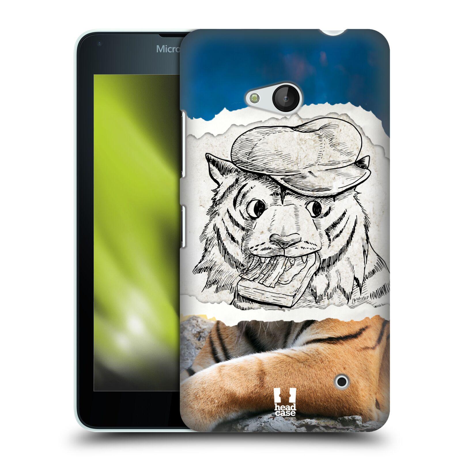 HEAD CASE plastový obal na mobil Nokia Lumia 640 vzor zvířata koláž tygr fešák
