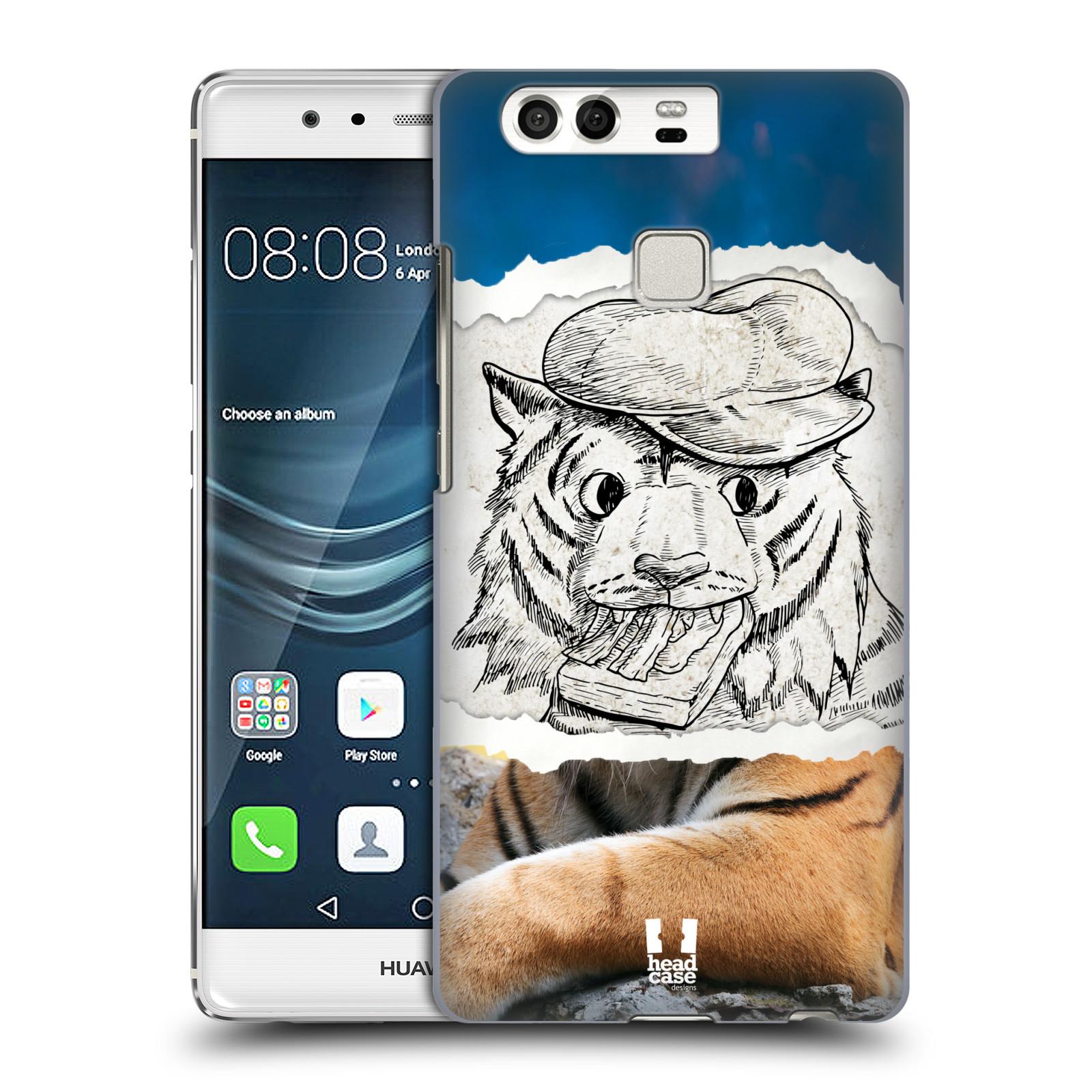 HEAD CASE plastový obal na mobil Huawei P9 / P9 DUAL SIM vzor zvířata koláž tygr fešák