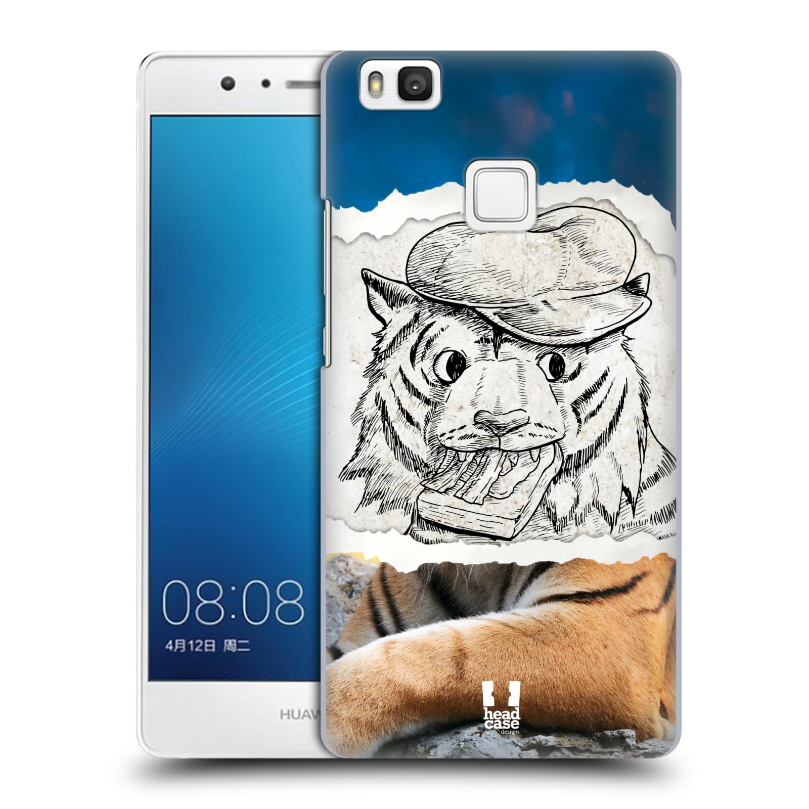 HEAD CASE plastový obal na mobil Huawei P9 LITE / P9 LITE DUAL SIM vzor zvířata koláž tygr fešák