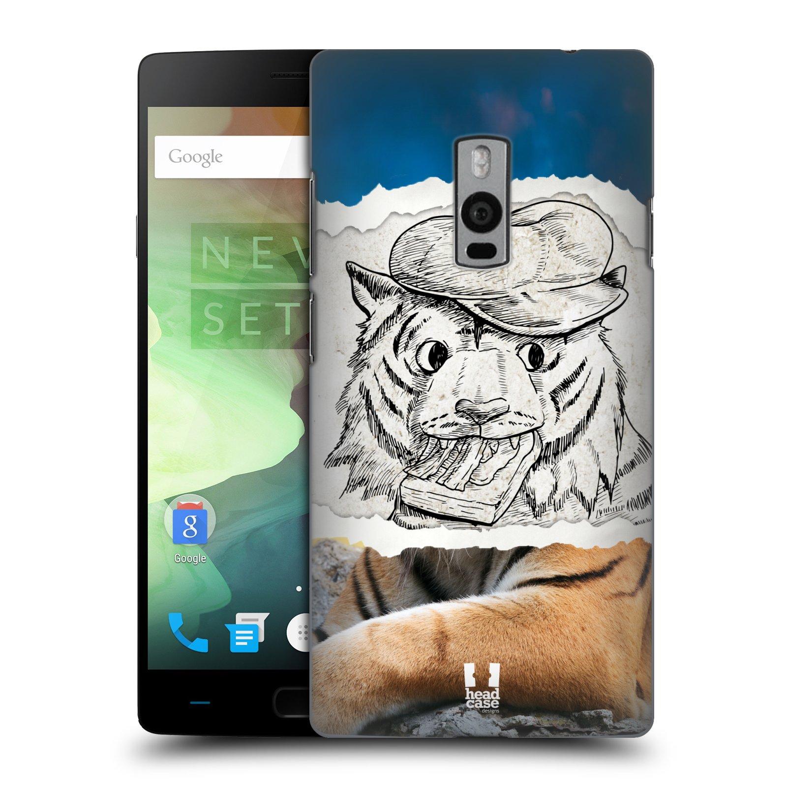 HEAD CASE pevný plastový obal na mobil OnePlus 2  ( TWO ) vzor zvířata koláž tygr fešák