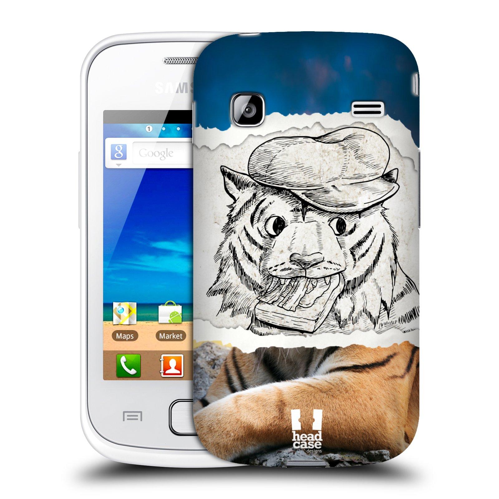 HEAD CASE plastový obal na mobil SAMSUNG GALAXY GIO (S5660) vzor zvířata koláž tygr fešák