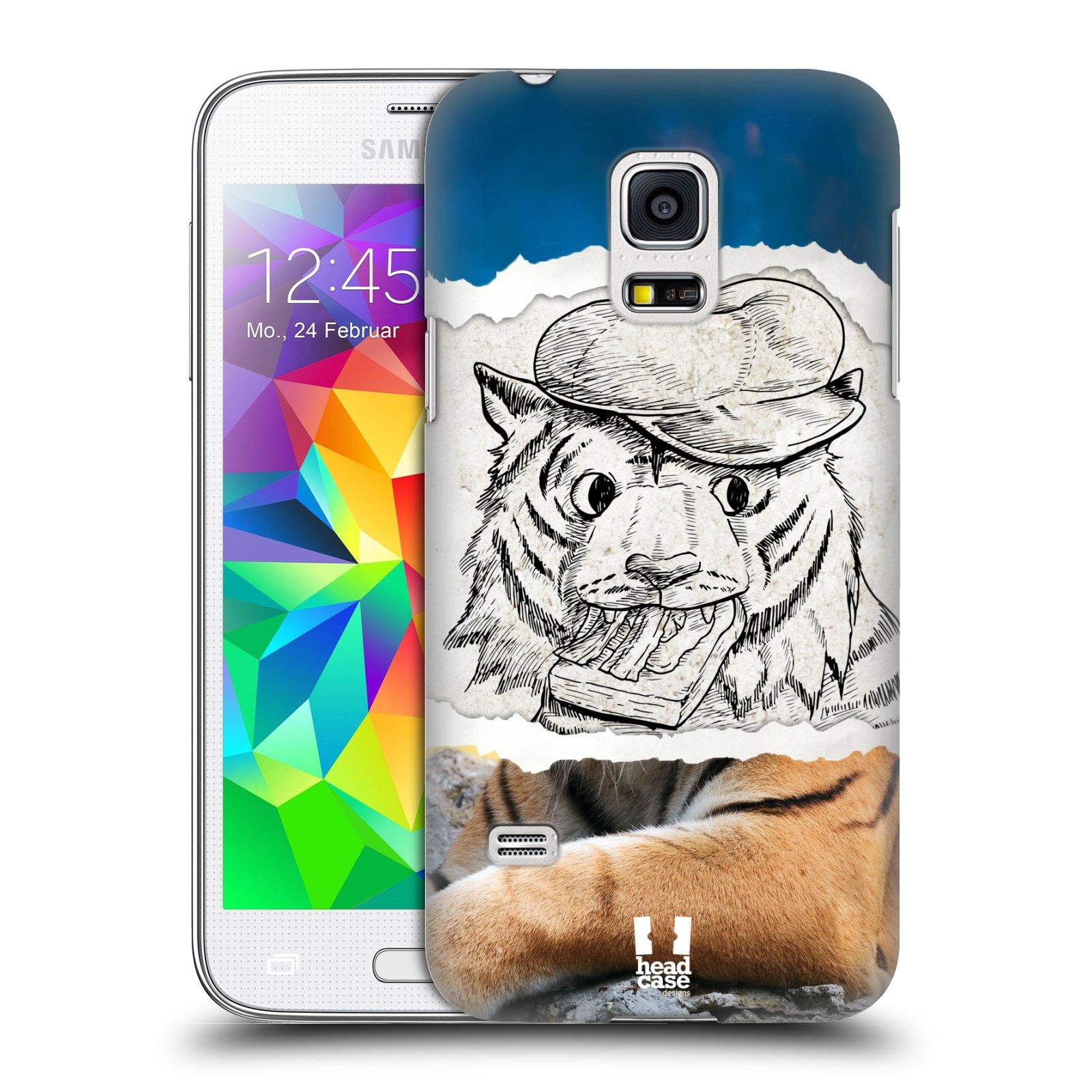 HEAD CASE plastový obal na mobil SAMSUNG Galaxy S5 MINI / S5 MINI DUOS vzor zvířata koláž tygr fešák