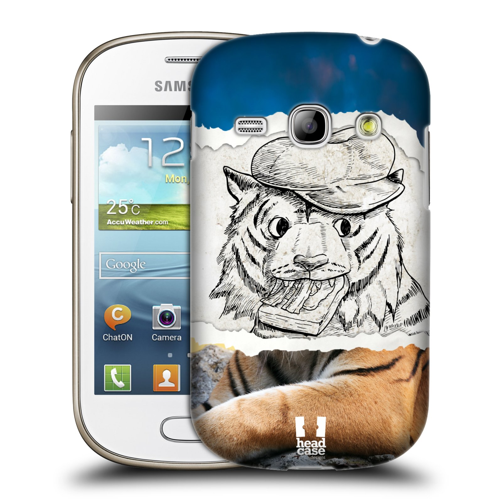HEAD CASE plastový obal na mobil SAMSUNG GALAXY FAME (S6810) vzor zvířata koláž tygr fešák