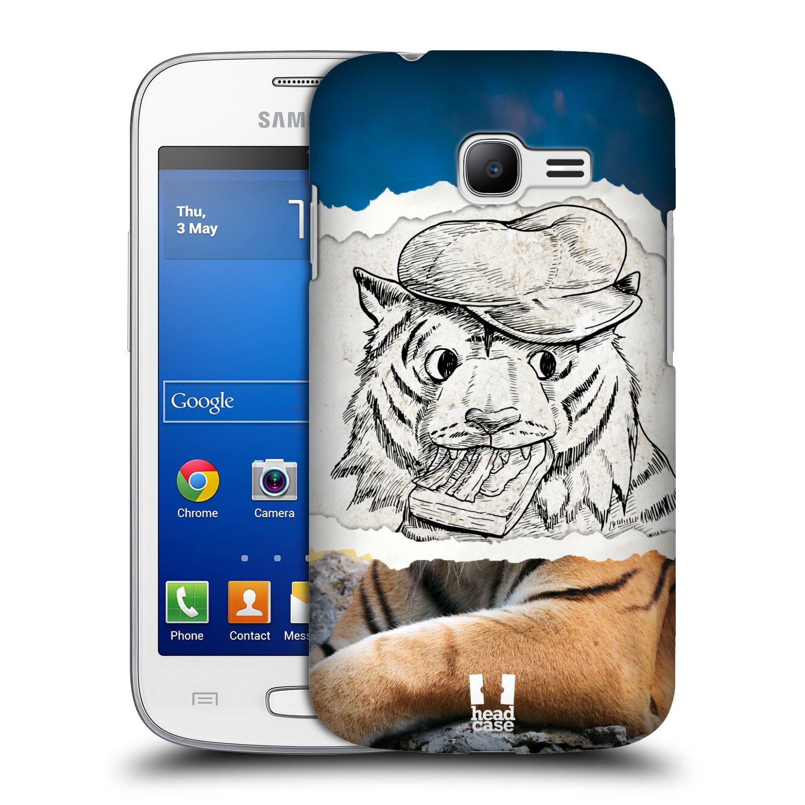 HEAD CASE plastový obal na mobil SAMSUNG GALAXY Star Pro S7260/S7262 DUOS vzor zvířata koláž tygr fešák