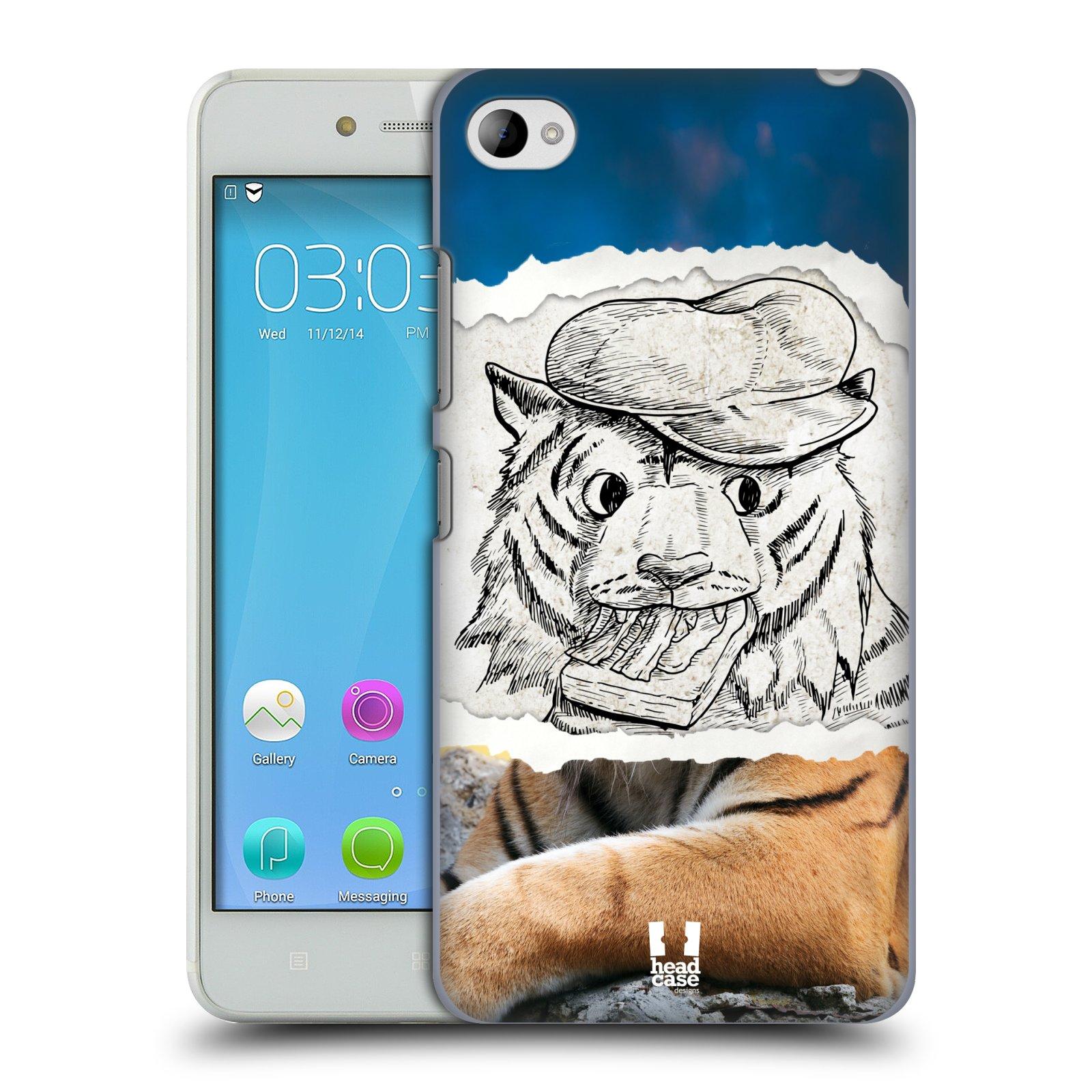 HEAD CASE pevný plastový obal na mobil LENOVO S90 vzor zvířata koláž tygr fešák