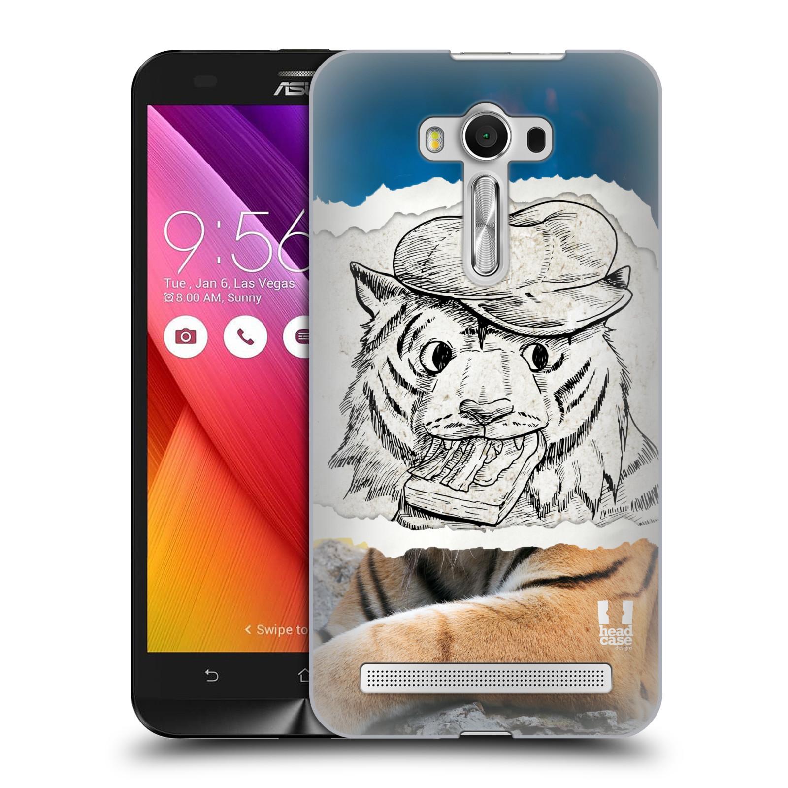 HEAD CASE plastový obal na mobil Asus Zenfone 2 LASER (5,5 displej ZE550KL) vzor zvířata koláž tygr fešák
