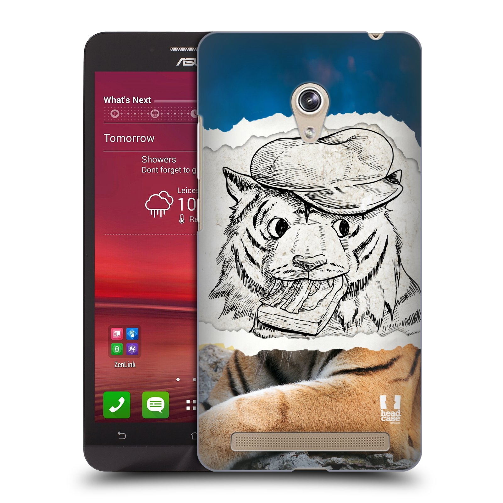 HEAD CASE plastový obal na mobil Asus Zenfone 6 vzor zvířata koláž tygr fešák