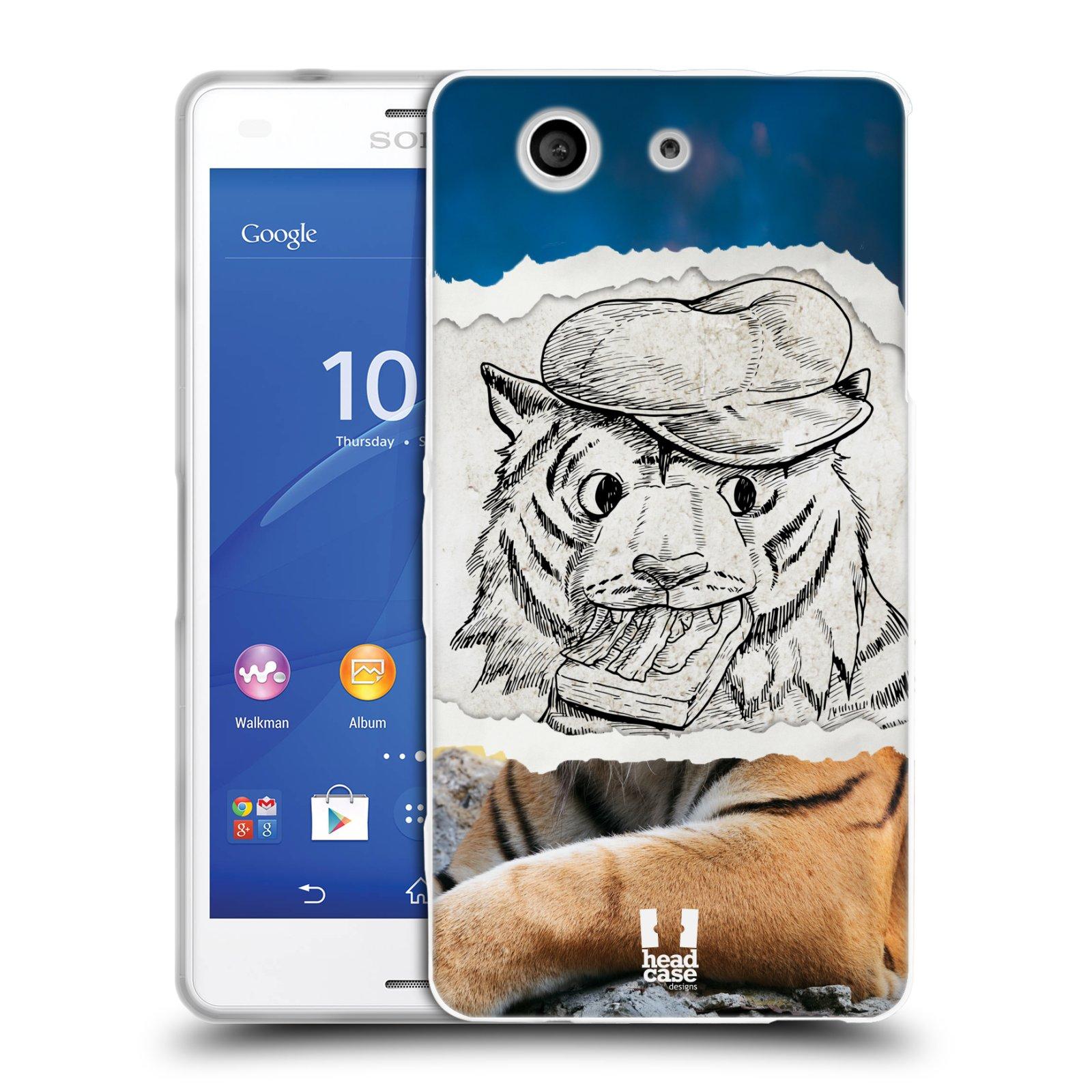 HEAD CASE silikonový obal na mobil Sony Xperia Z3 COMPACT (D5803) vzor zvířata koláž tygr fešák