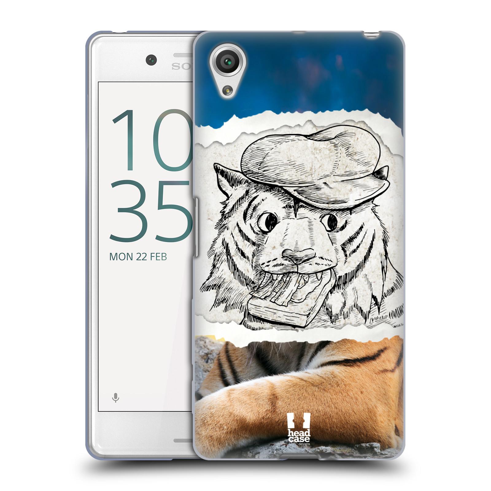 HEAD CASE silikonový obal na mobil Sony Xperia X PERFORMANCE (F8131, F8132) vzor zvířata koláž tygr fešák