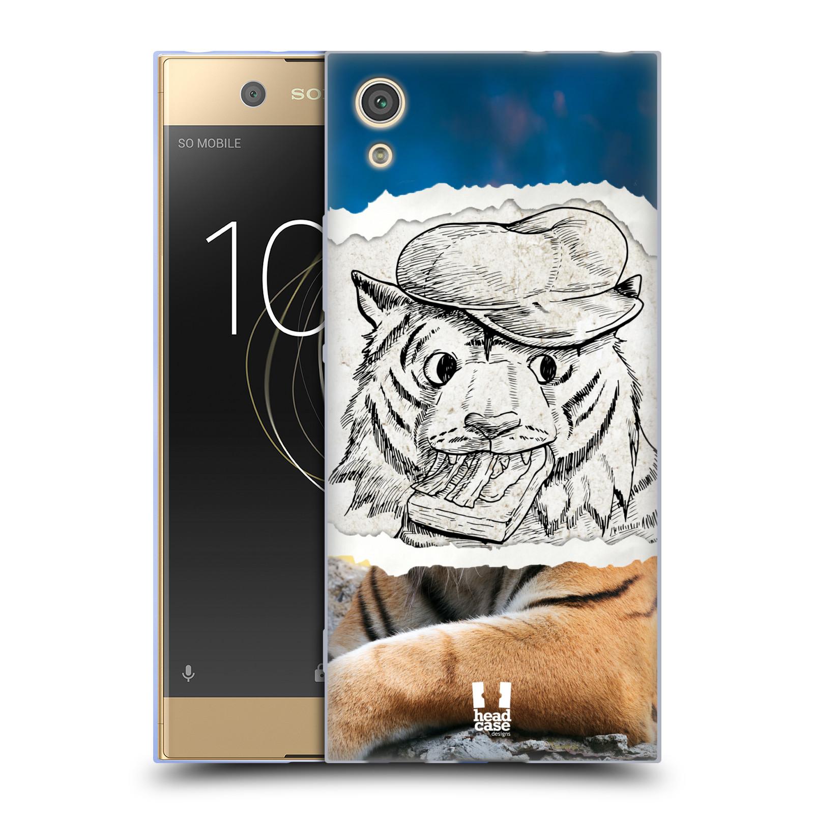 HEAD CASE silikonový obal na mobil Sony Xperia XA1 / XA1 DUAL SIM vzor zvířata koláž tygr fešák