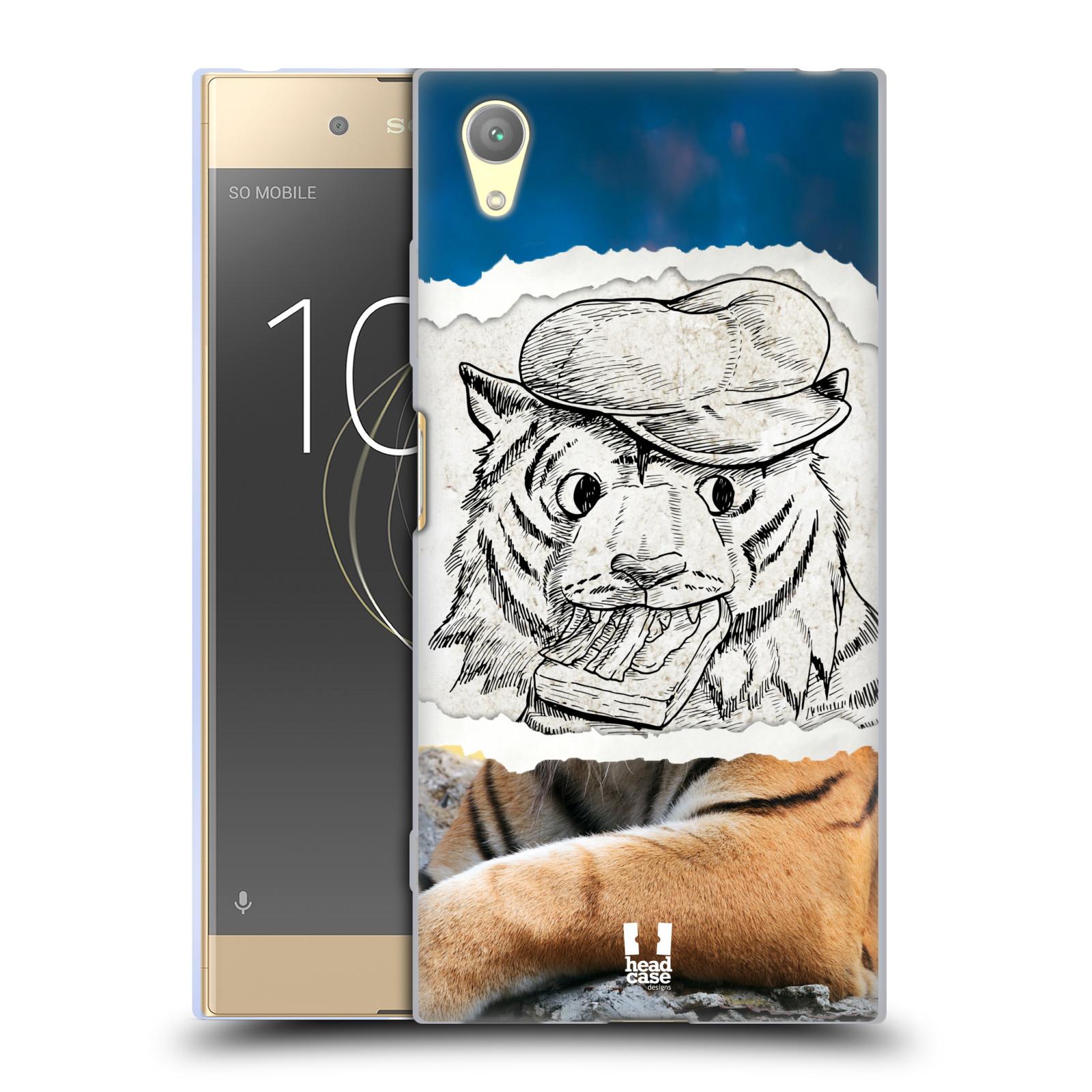 HEAD CASE silikonový obal na mobil Sony Xperia XA1 PLUS vzor zvířata koláž tygr fešák