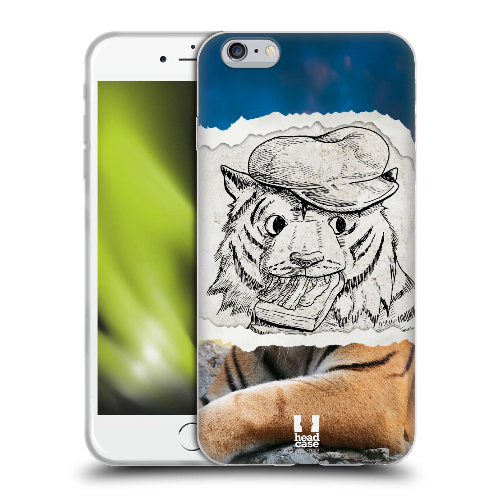 HEAD CASE silikonový obal na mobil Apple Iphone 6 PLUS/ 6S PLUS vzor zvířata koláž tygr fešák