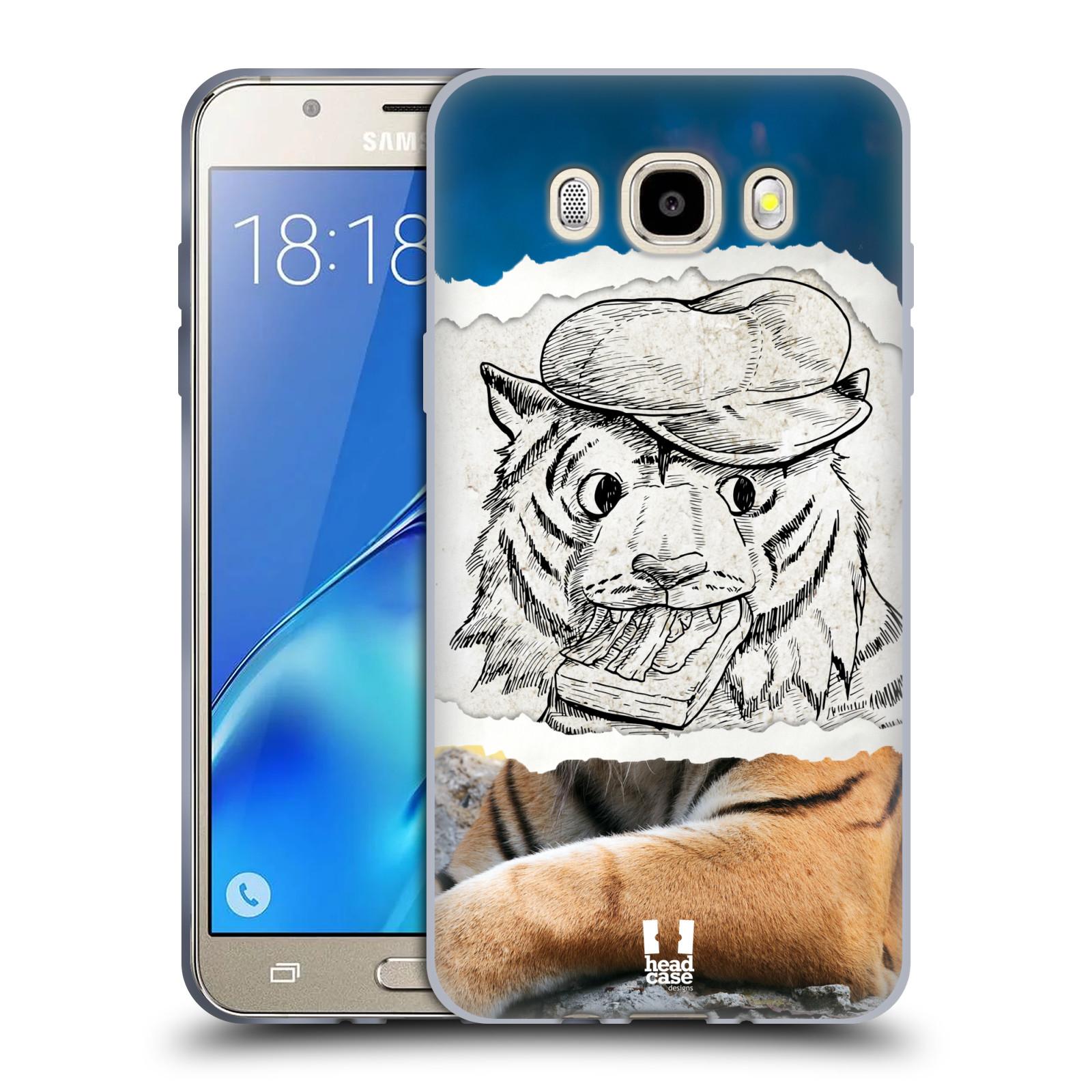 HEAD CASE silikonový obal, kryt na mobil Samsung Galaxy J5 2016, J510, J510F, (J510F DUAL SIM) vzor zvířata koláž tygr fešák