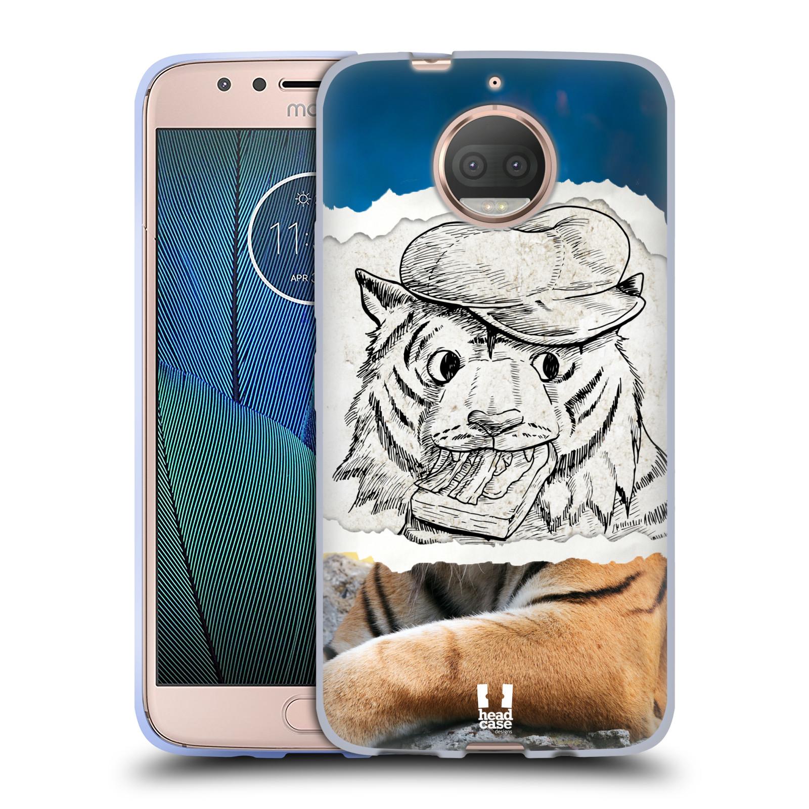 HEAD CASE silikonový obal na mobil Lenovo Moto G5s PLUS vzor zvířata koláž tygr fešák
