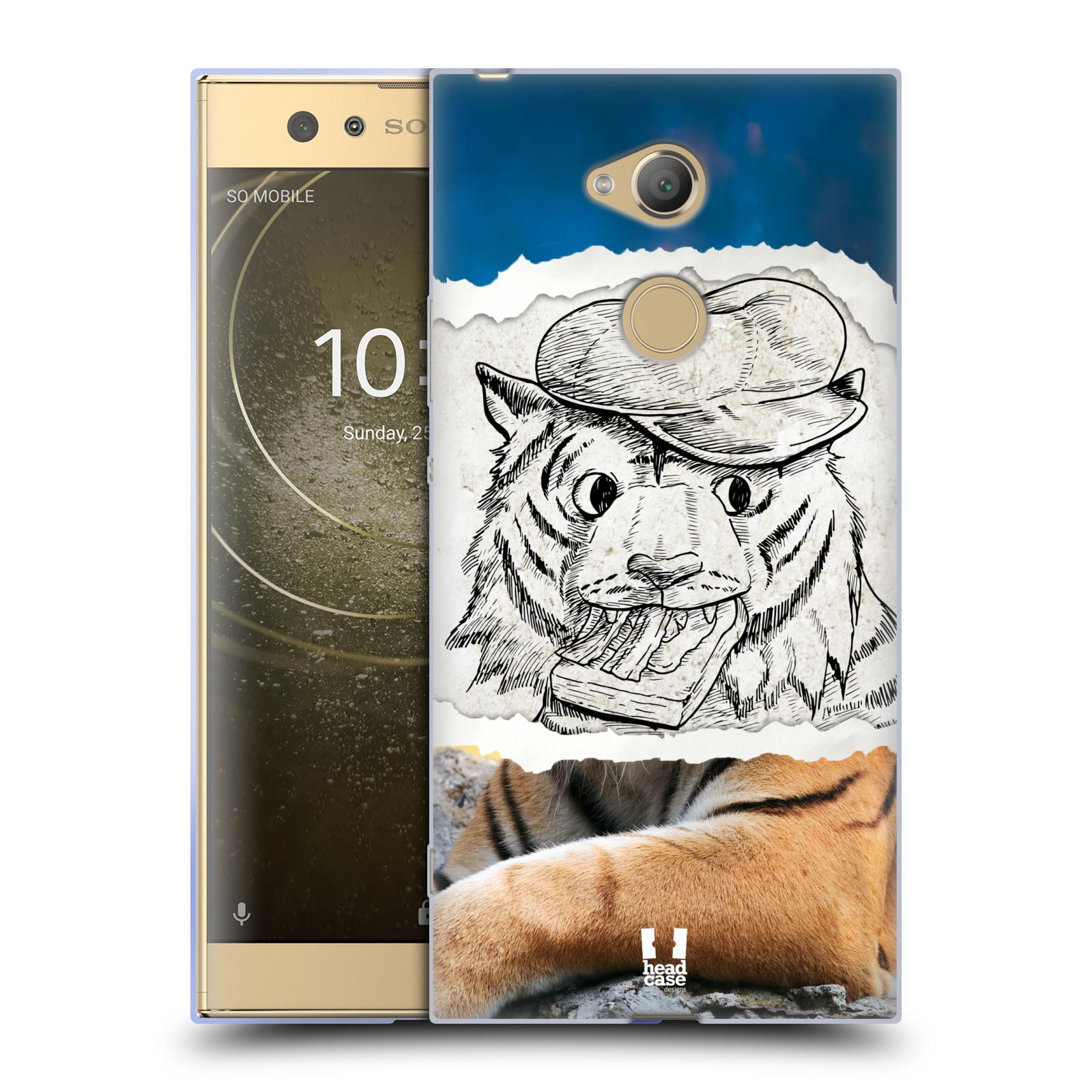Pouzdro na mobil Sony Xperia XA2 Ultra vzor zvířata koláž tygr fešák