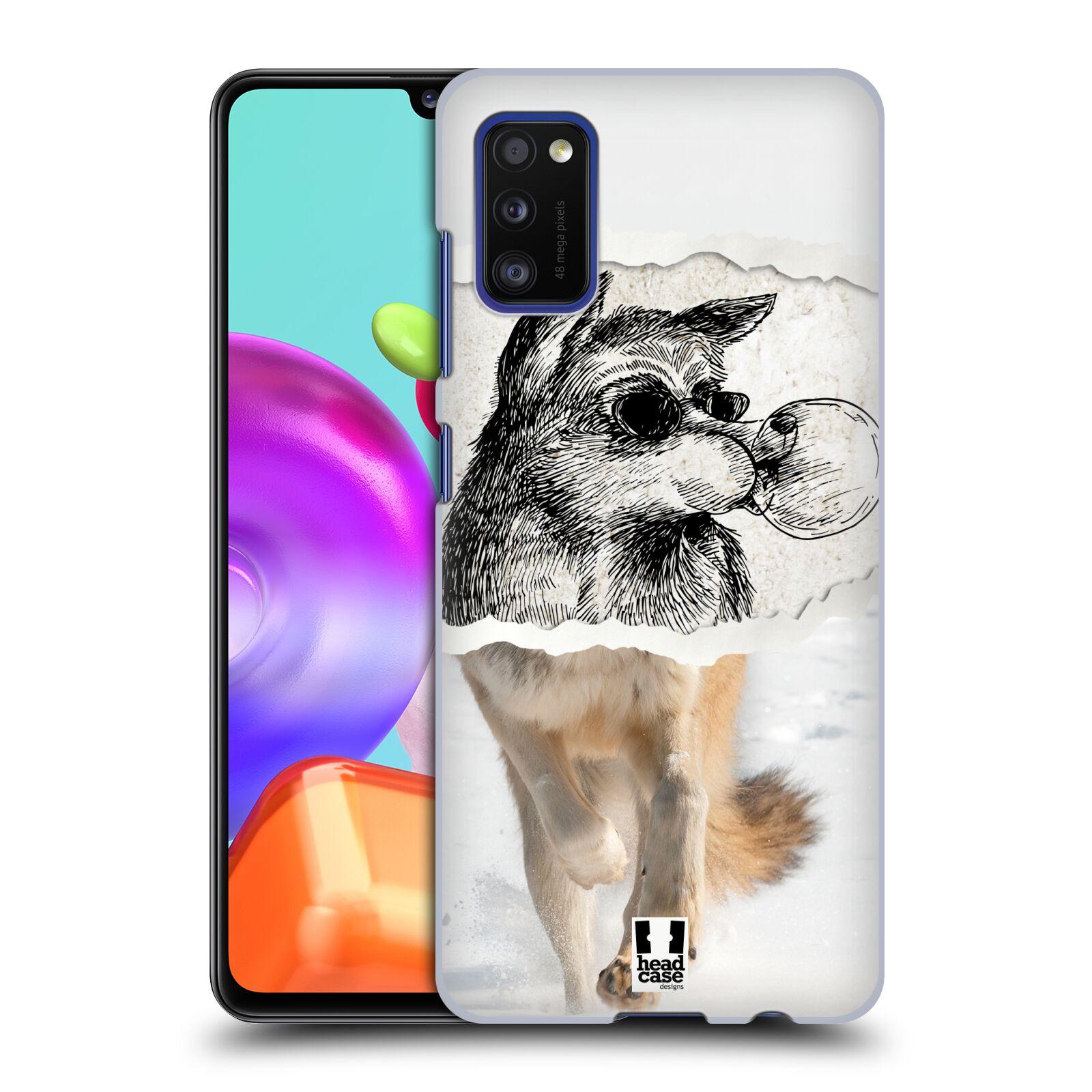 Zadní kryt na mobil Samsung Galaxy A41 vzor zvířata koláž vlk pohodář
