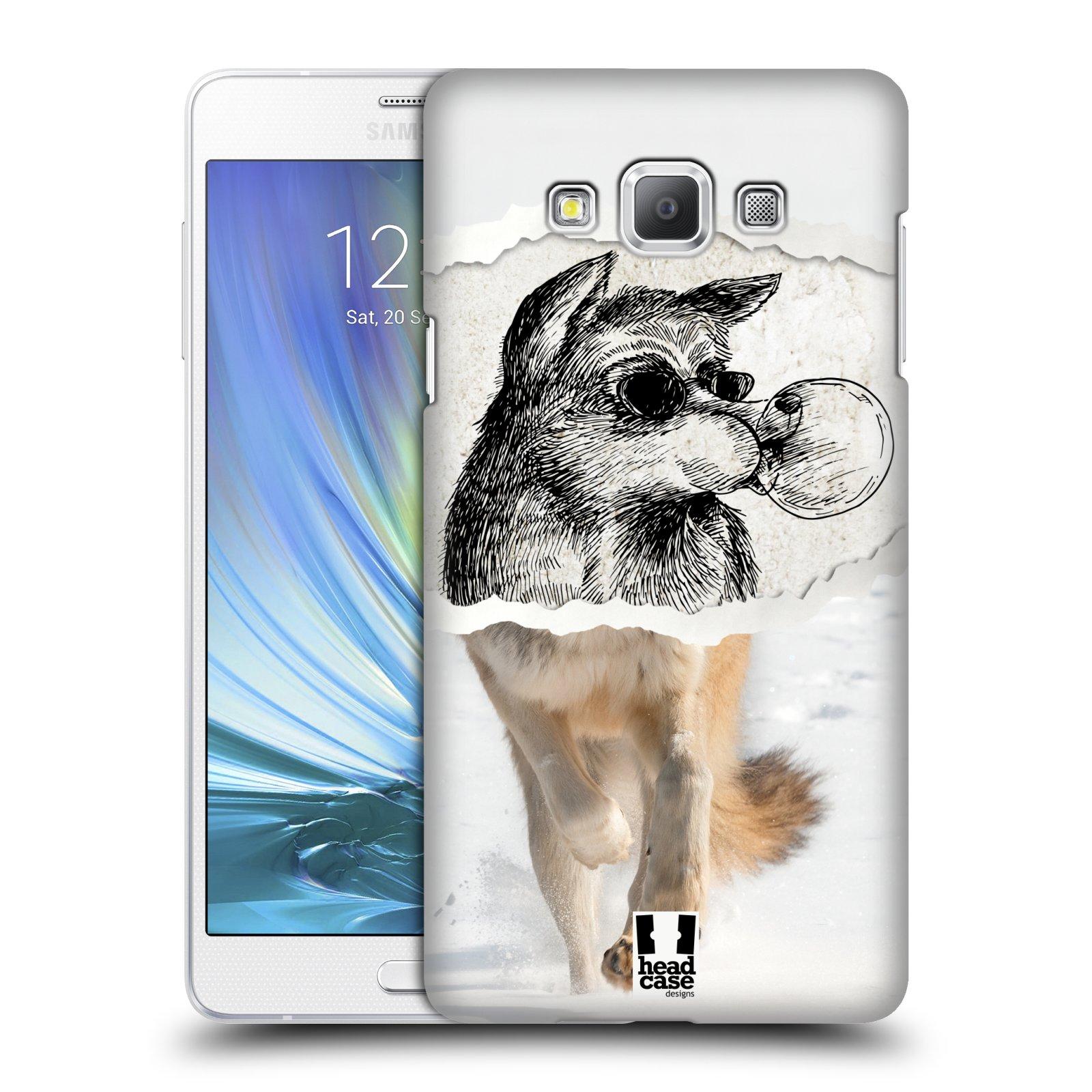 HEAD CASE plastový obal na mobil SAMSUNG GALAXY A7 vzor zvířata koláž vlk pohodář