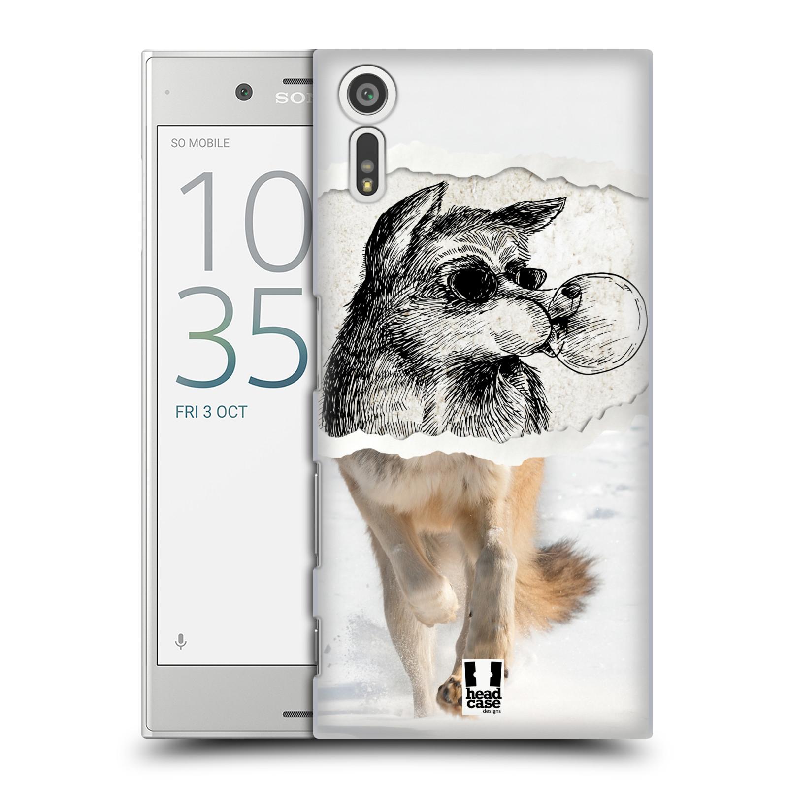 HEAD CASE plastový obal na mobil Sony Xperia XZ vzor zvířata koláž vlk pohodář
