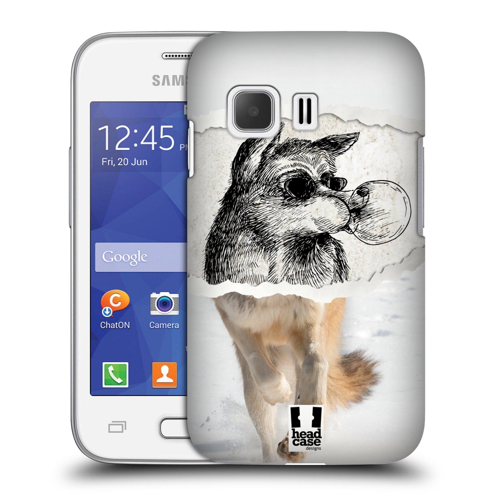 HEAD CASE plastový obal na mobil SAMSUNG Galaxy Young 2 (G130) vzor zvířata koláž vlk pohodář
