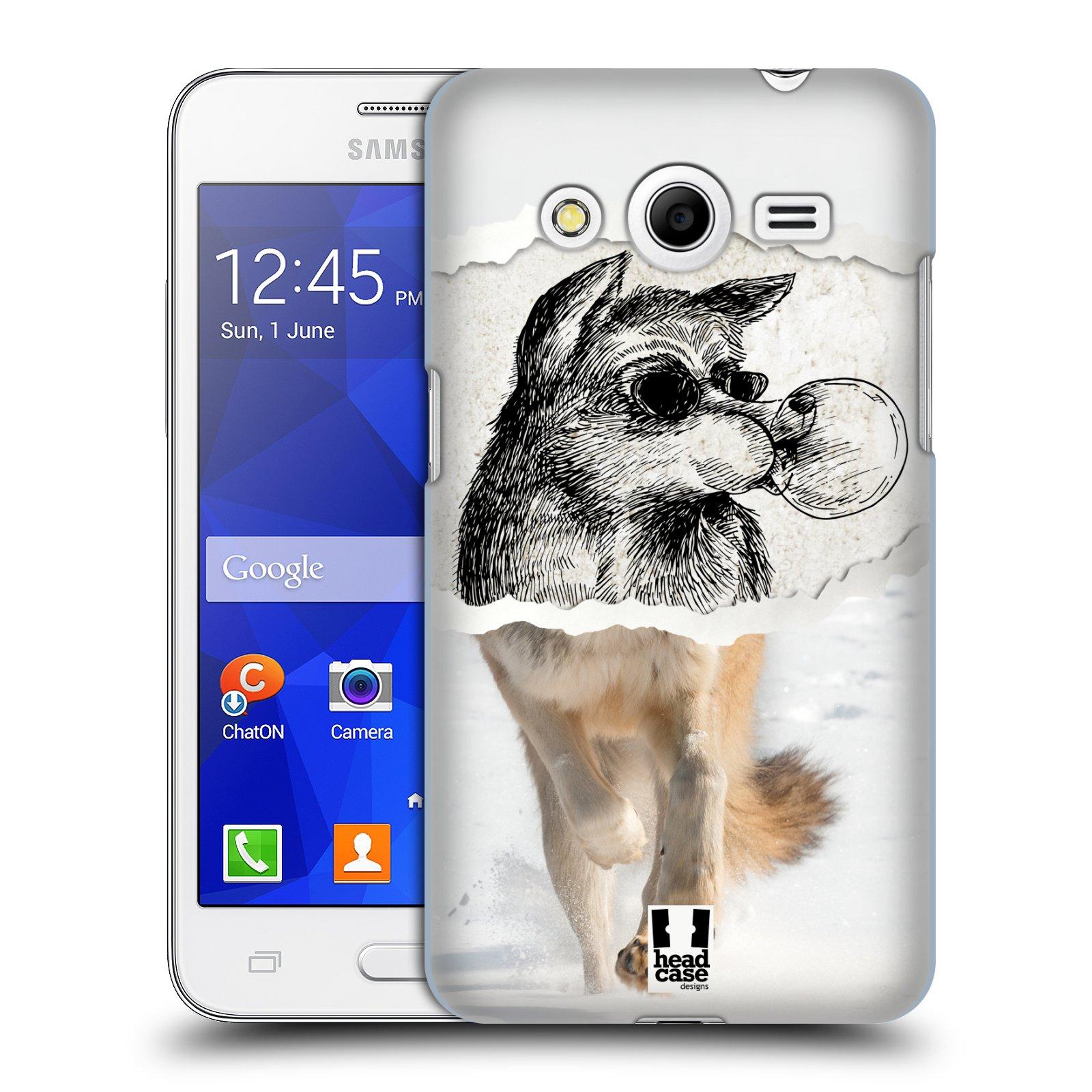 HEAD CASE plastový obal na mobil SAMSUNG GALAXY Core 2 (G355H) vzor zvířata koláž vlk pohodář