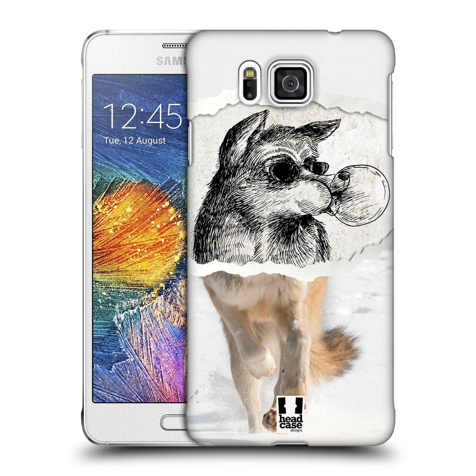 HEAD CASE plastový obal na mobil SAMSUNG Galaxy Alpha (G850) vzor zvířata koláž vlk pohodář