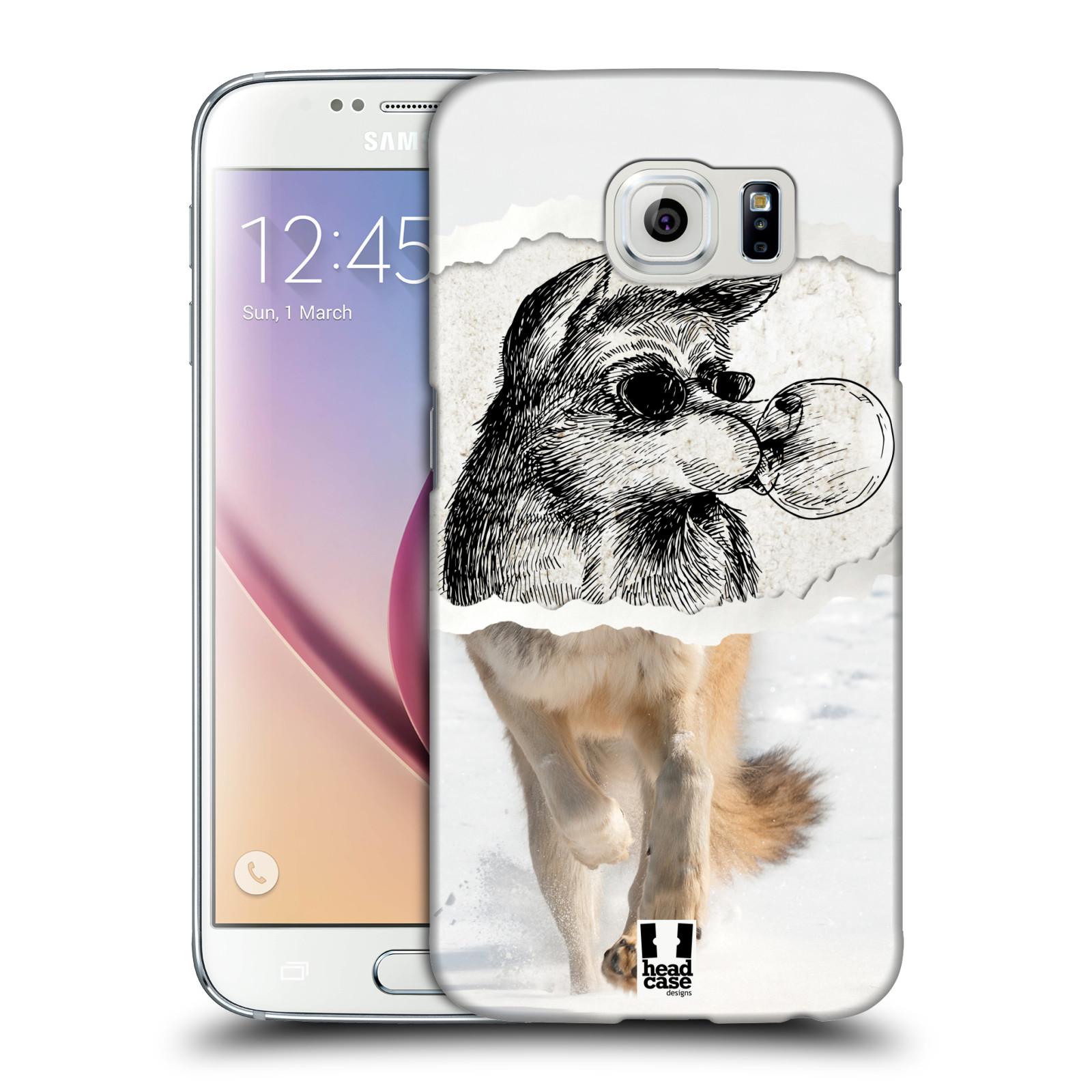 HEAD CASE plastový obal na mobil SAMSUNG Galaxy S6 (G9200, G920F) vzor zvířata koláž vlk pohodář