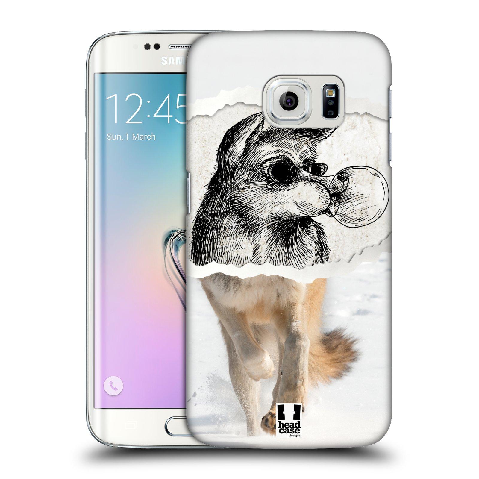 HEAD CASE plastový obal na mobil SAMSUNG Galaxy S6 EDGE (G9250, G925, G925F) vzor zvířata koláž vlk pohodář