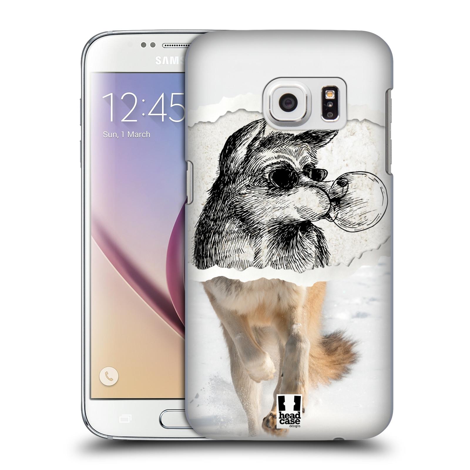 HEAD CASE plastový obal na mobil SAMSUNG GALAXY S7 vzor zvířata koláž vlk pohodář