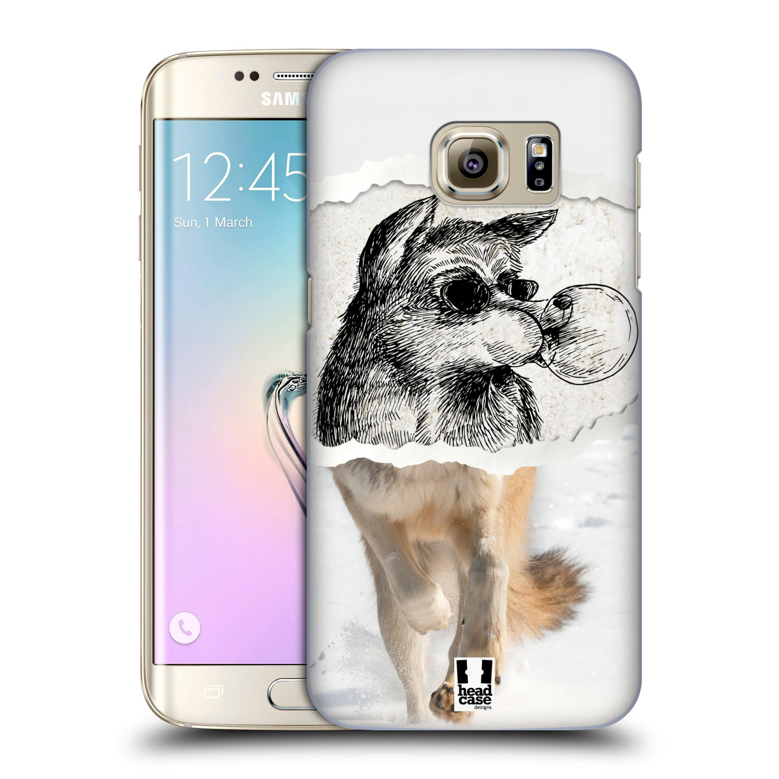 HEAD CASE plastový obal na mobil SAMSUNG GALAXY S7 EDGE vzor zvířata koláž vlk pohodář