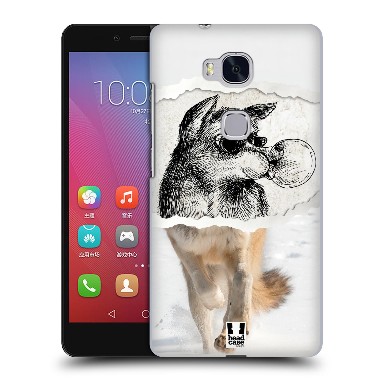 HEAD CASE pevný plastový obal na mobil HUAWEI HONOR 5X vzor zvířata koláž vlk pohodář