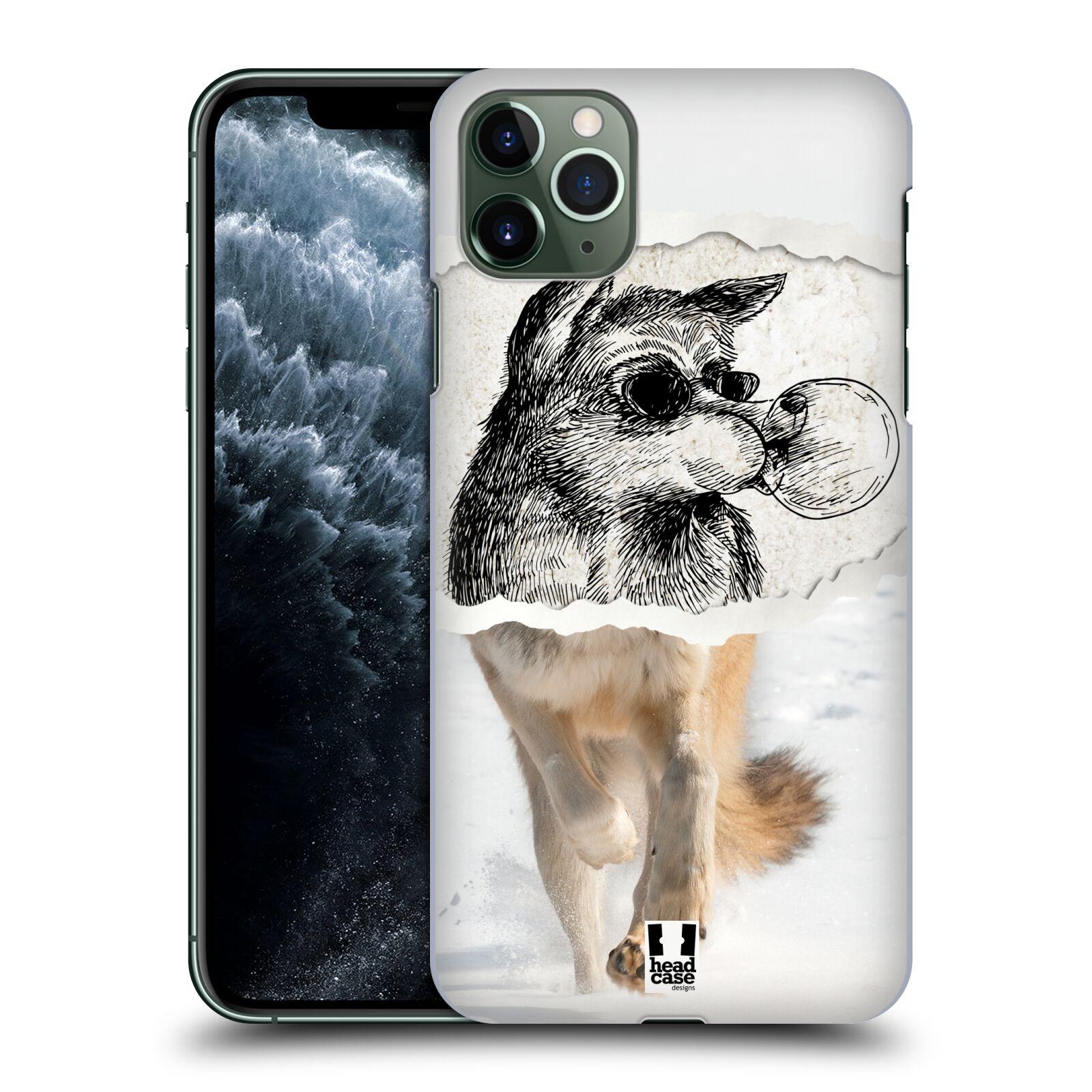 Pouzdro na mobil Apple Iphone 11 PRO MAX - HEAD CASE - vzor zvířata koláž vlk pohodář