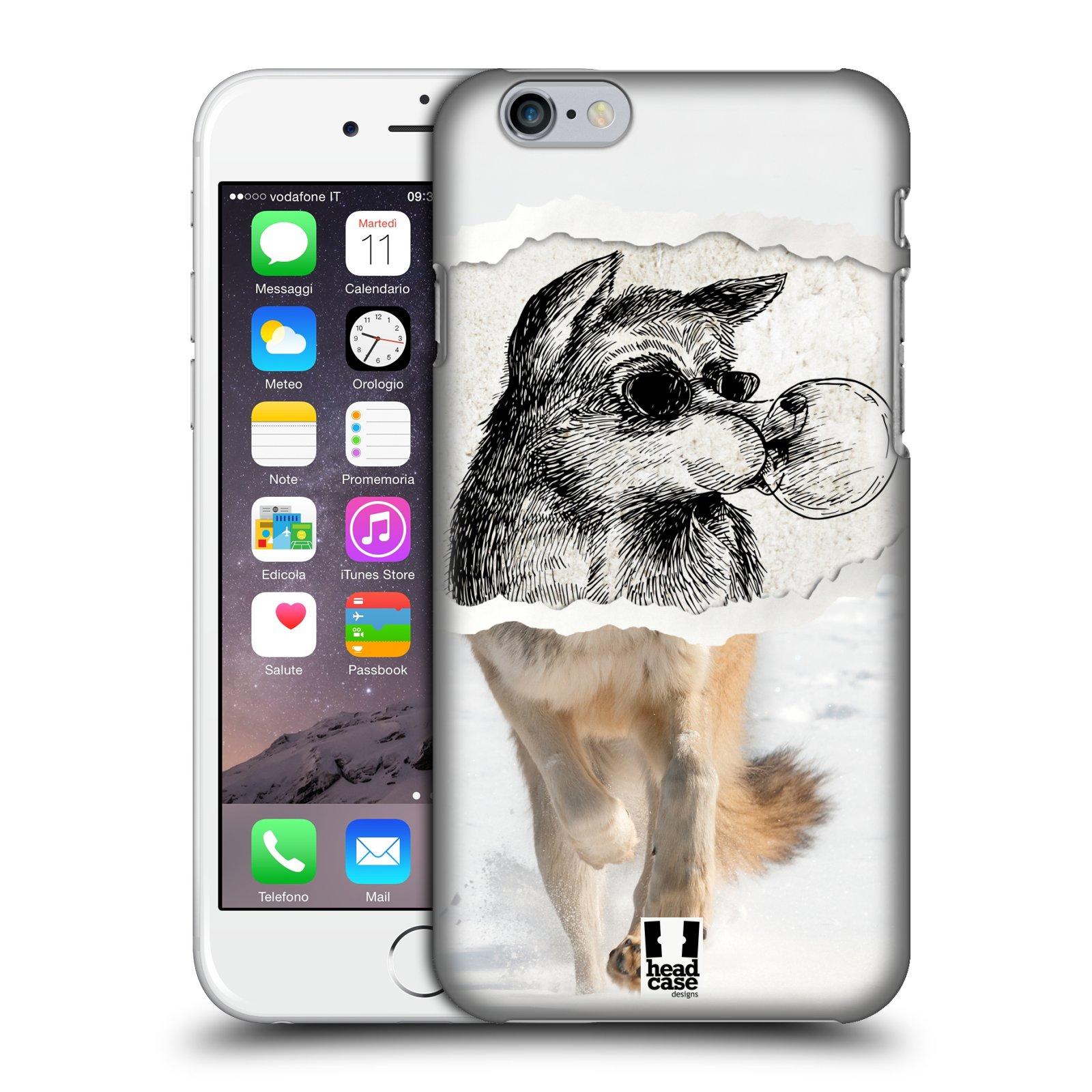 Plastové pouzdro pro mobil Apple Iphone 6/6S vzor zvířata koláž vlk pohodář
