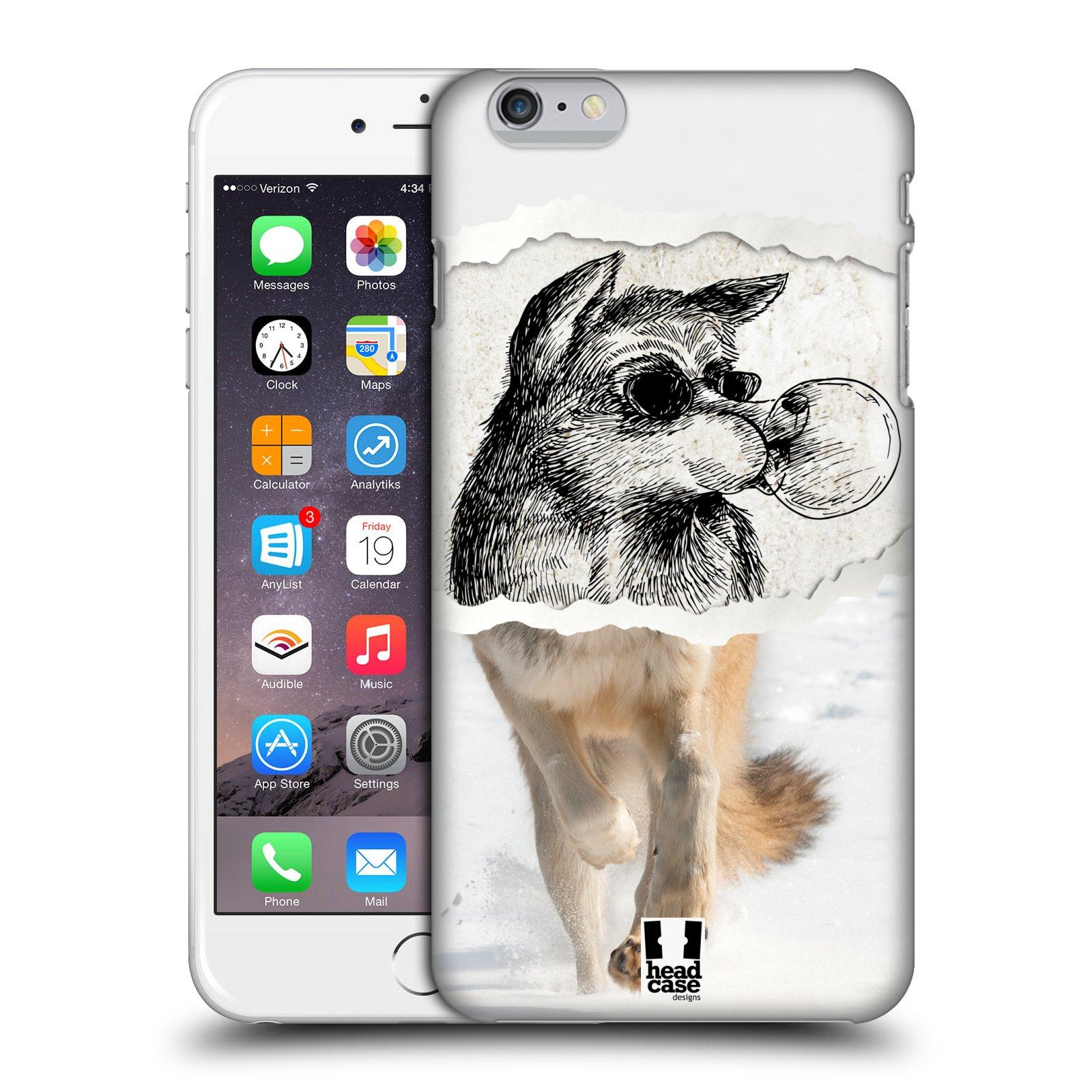 Plastové pouzdro pro mobil Apple Iphone 6 PLUS / 6S PLUS vzor zvířata koláž vlk pohodář