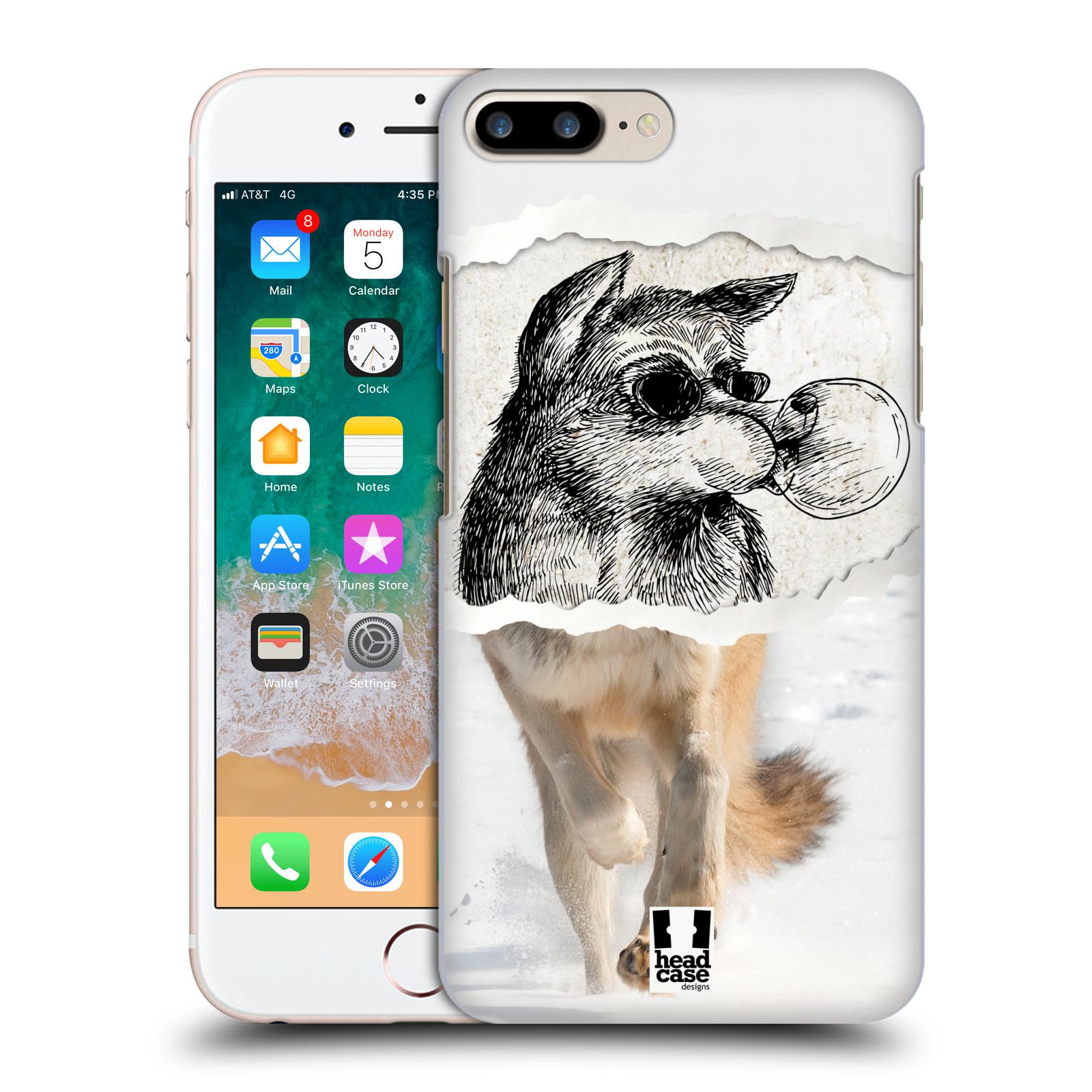 HEAD CASE plastový obal na mobil Apple Iphone 7 PLUS vzor zvířata koláž vlk pohodář