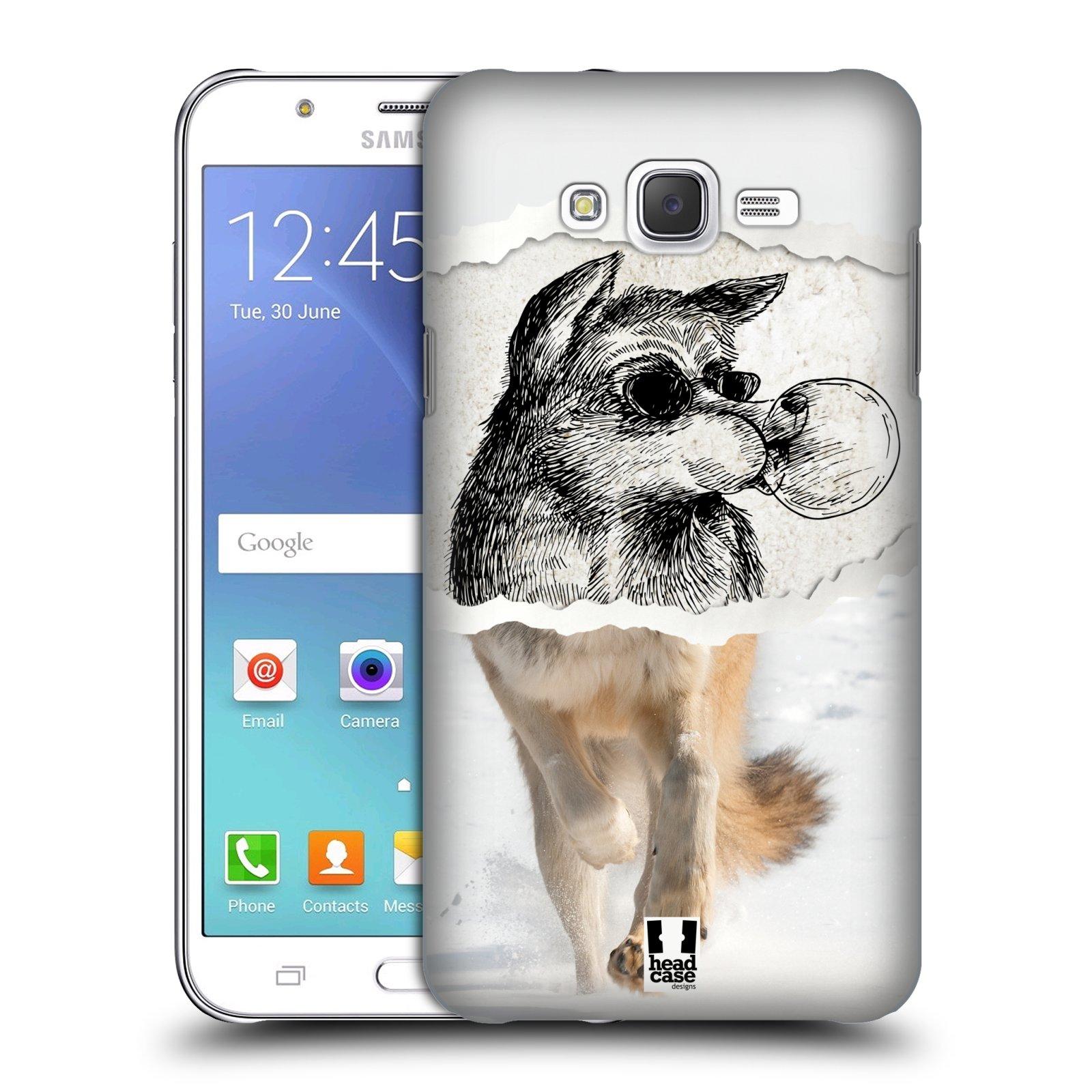 HEAD CASE plastový obal na mobil SAMSUNG Galaxy J7, J700 vzor zvířata koláž vlk pohodář