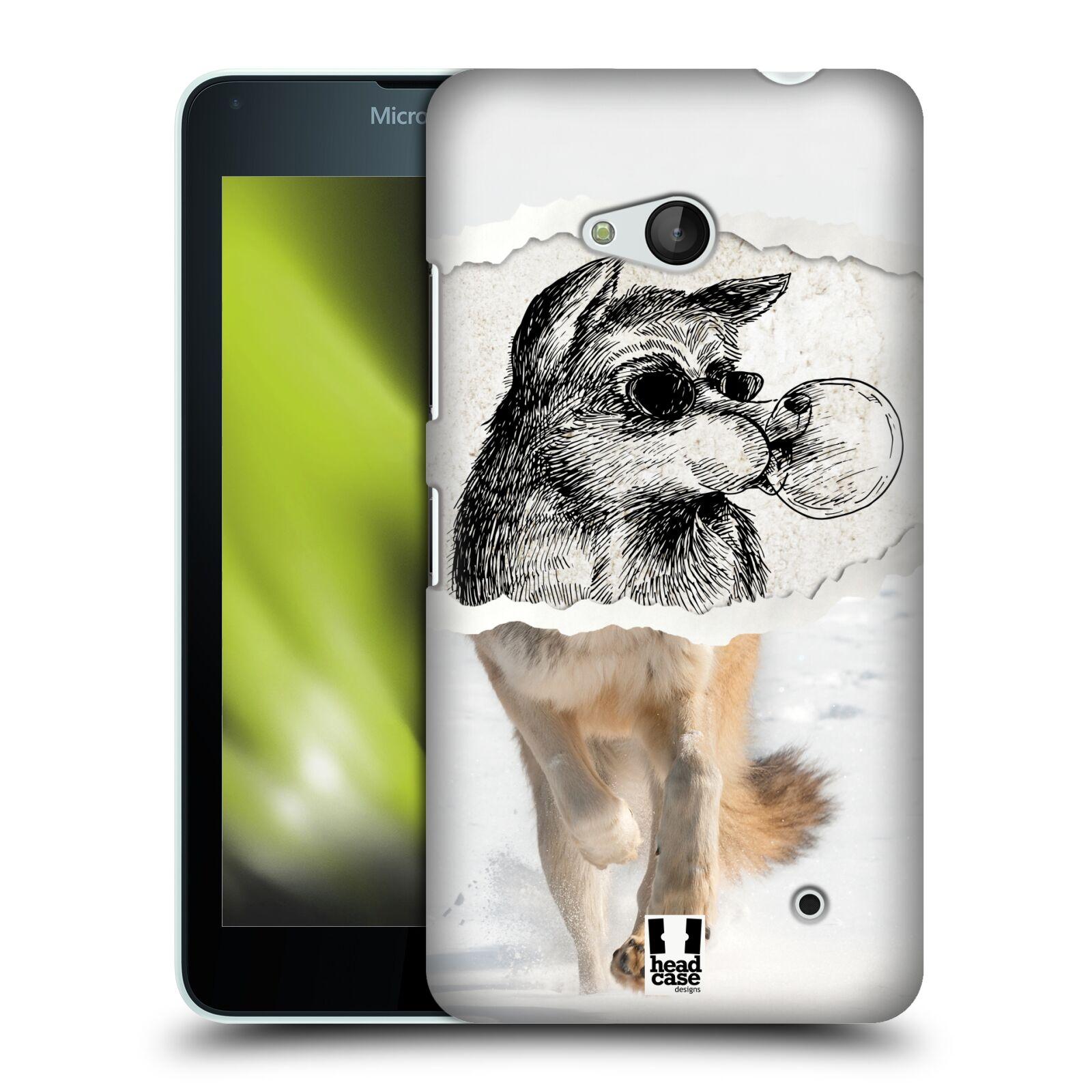 HEAD CASE plastový obal na mobil Nokia Lumia 640 vzor zvířata koláž vlk pohodář