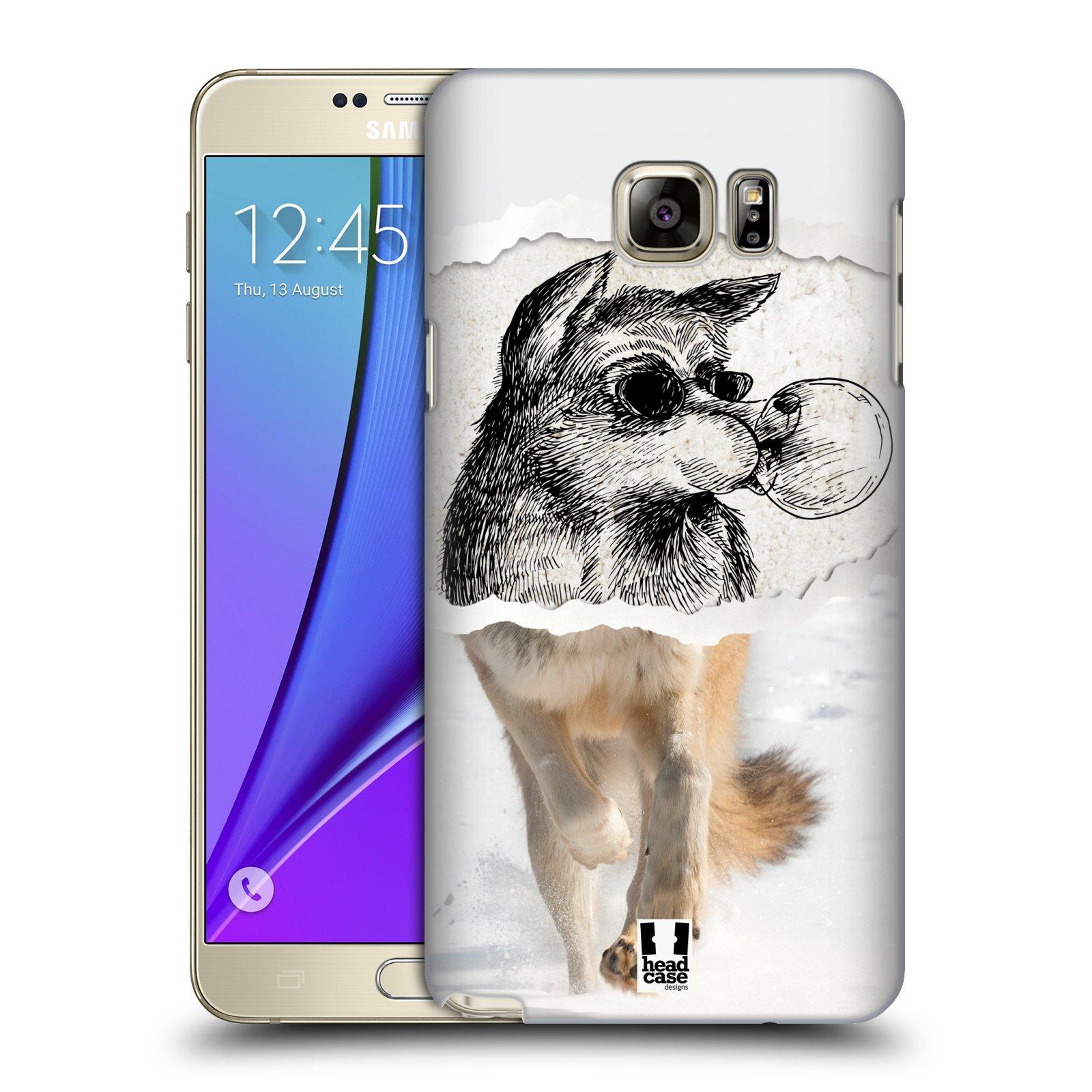 HEAD CASE plastový obal na mobil SAMSUNG Galaxy Note 5 (N920) vzor zvířata koláž vlk pohodář