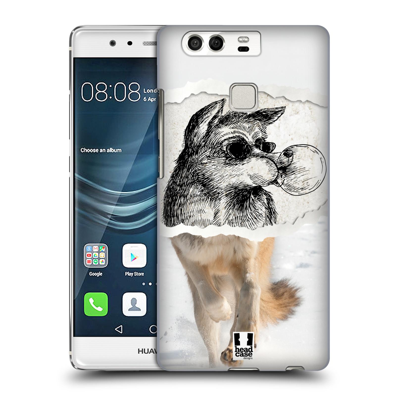 HEAD CASE plastový obal na mobil Huawei P9 / P9 DUAL SIM vzor zvířata koláž vlk pohodář