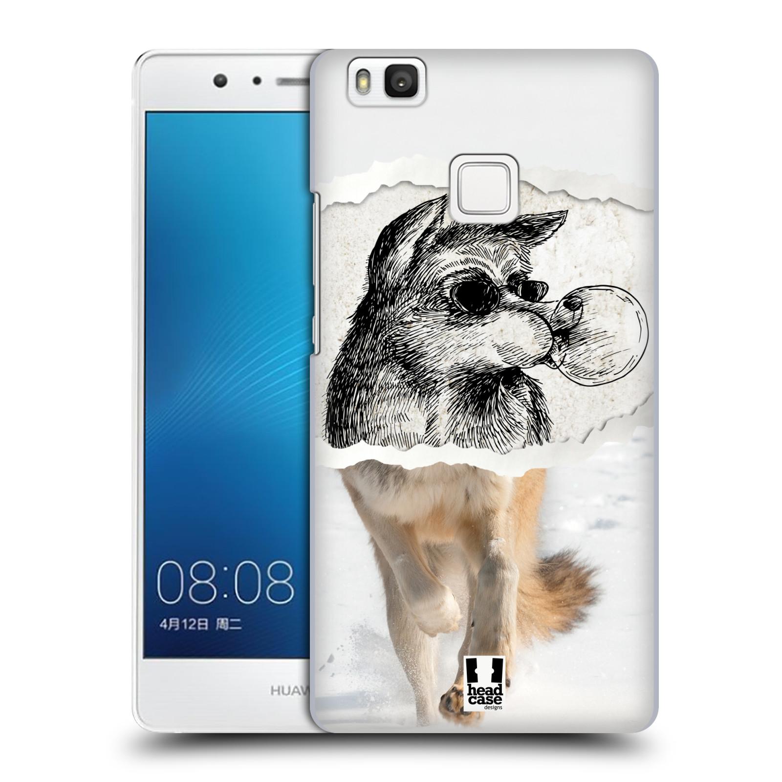 HEAD CASE plastový obal na mobil Huawei P9 LITE / P9 LITE DUAL SIM vzor zvířata koláž vlk pohodář