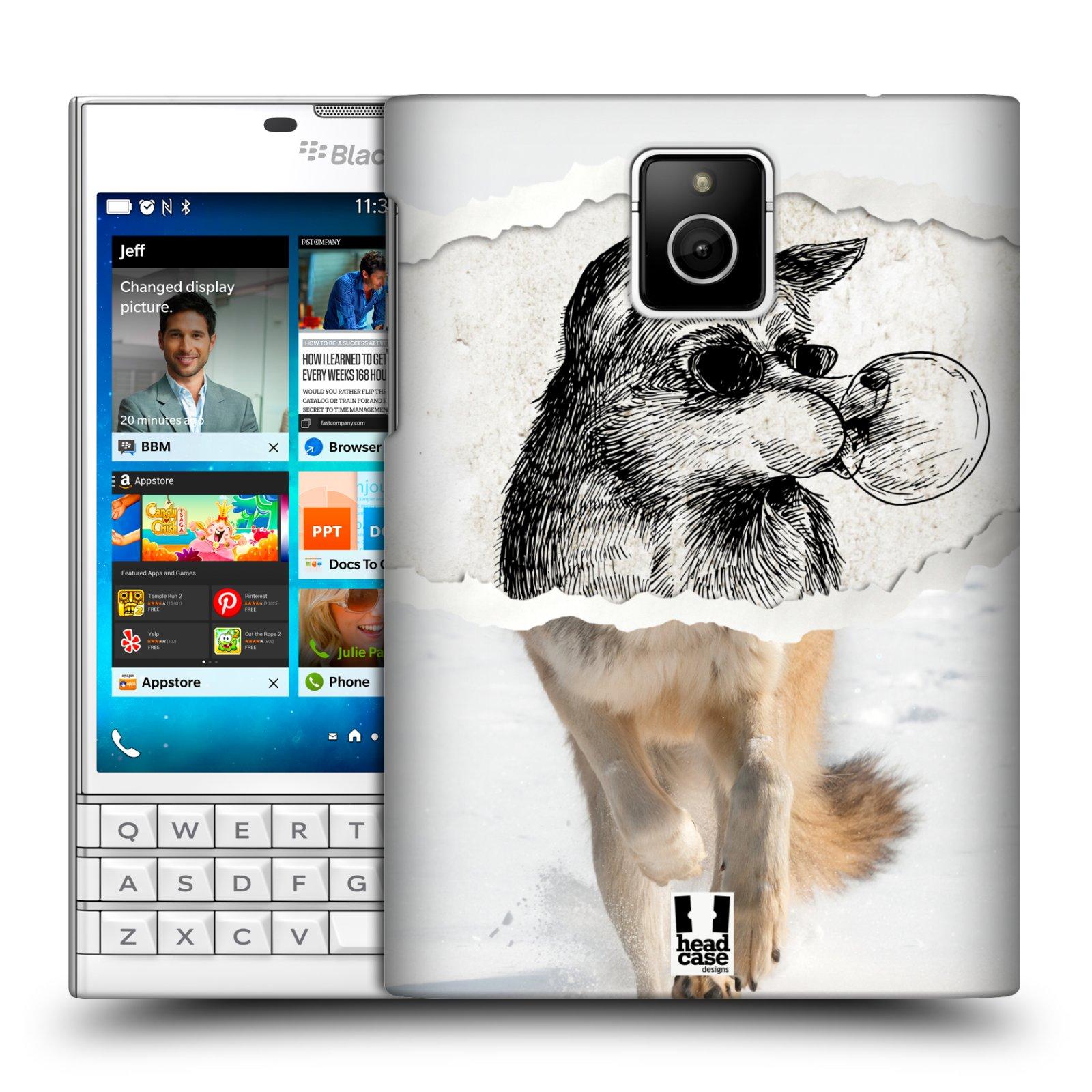 HEAD CASE plastový obal na mobil BlackBerry Passport vzor zvířata koláž vlk pohodář