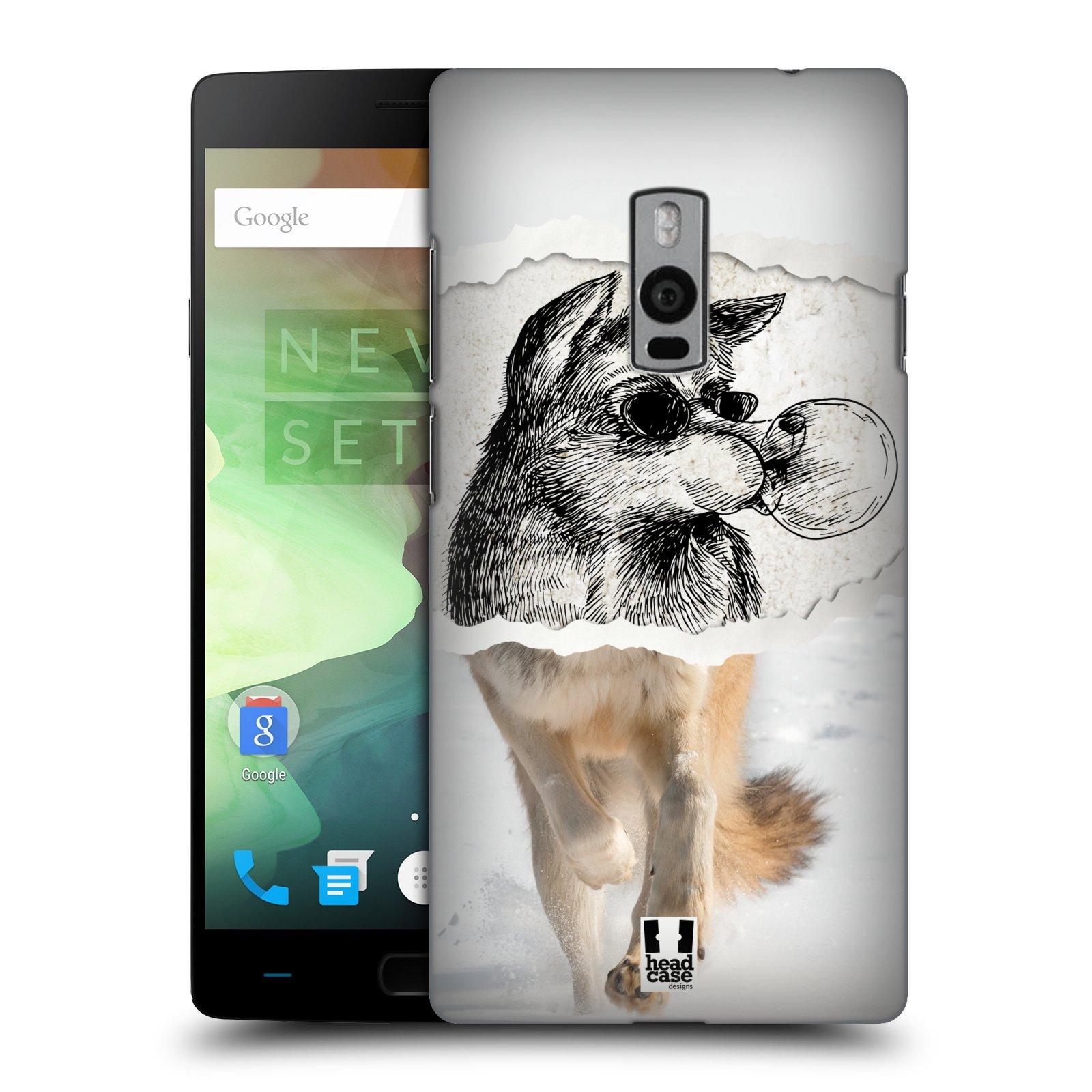 HEAD CASE pevný plastový obal na mobil OnePlus 2  ( TWO ) vzor zvířata koláž vlk pohodář