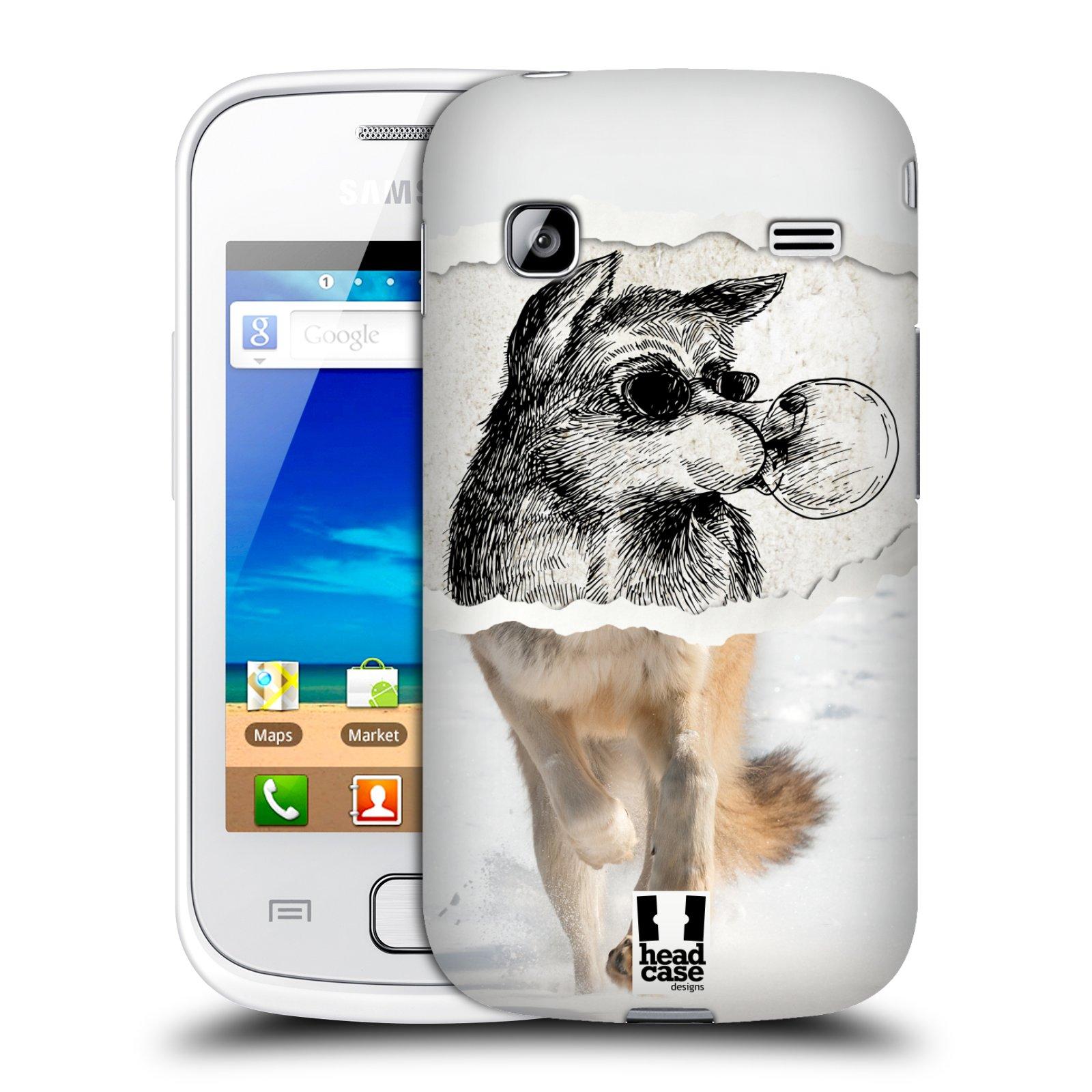 HEAD CASE plastový obal na mobil SAMSUNG GALAXY GIO (S5660) vzor zvířata koláž vlk pohodář