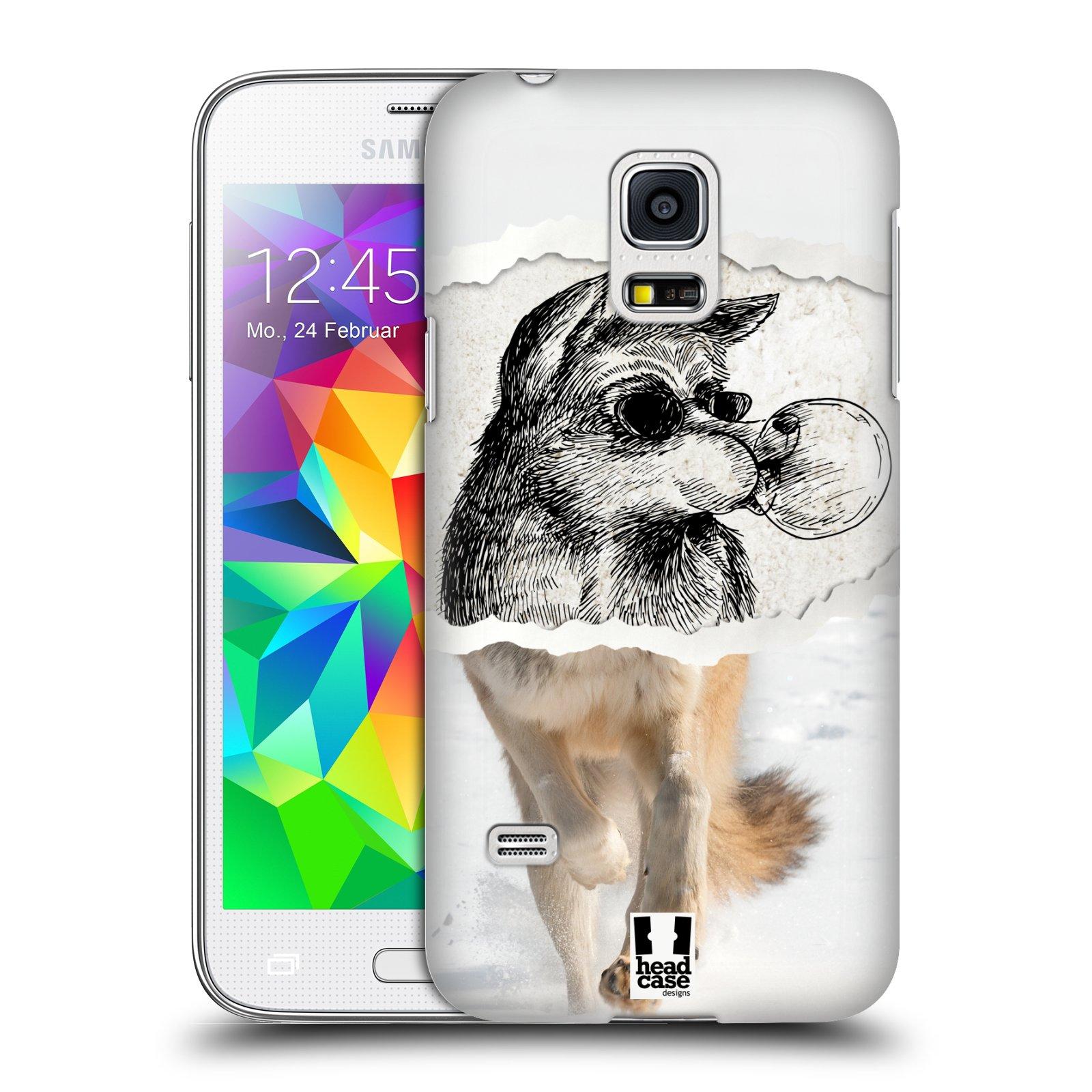 HEAD CASE plastový obal na mobil SAMSUNG Galaxy S5 MINI / S5 MINI DUOS vzor zvířata koláž vlk pohodář