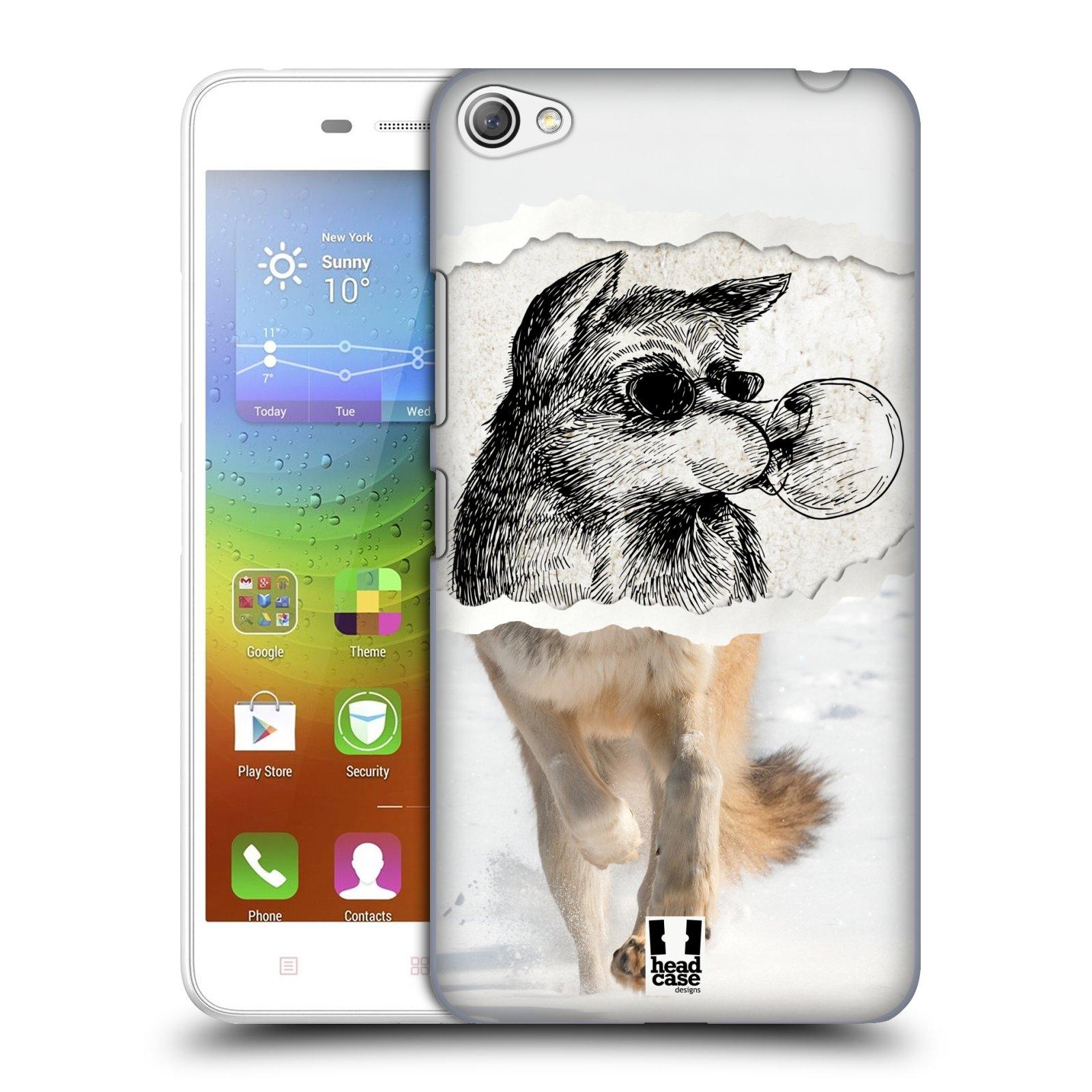 HEAD CASE pevný plastový obal na mobil LENOVO S60 / LENOVO S60 DUAL SIM vzor zvířata koláž vlk pohodář
